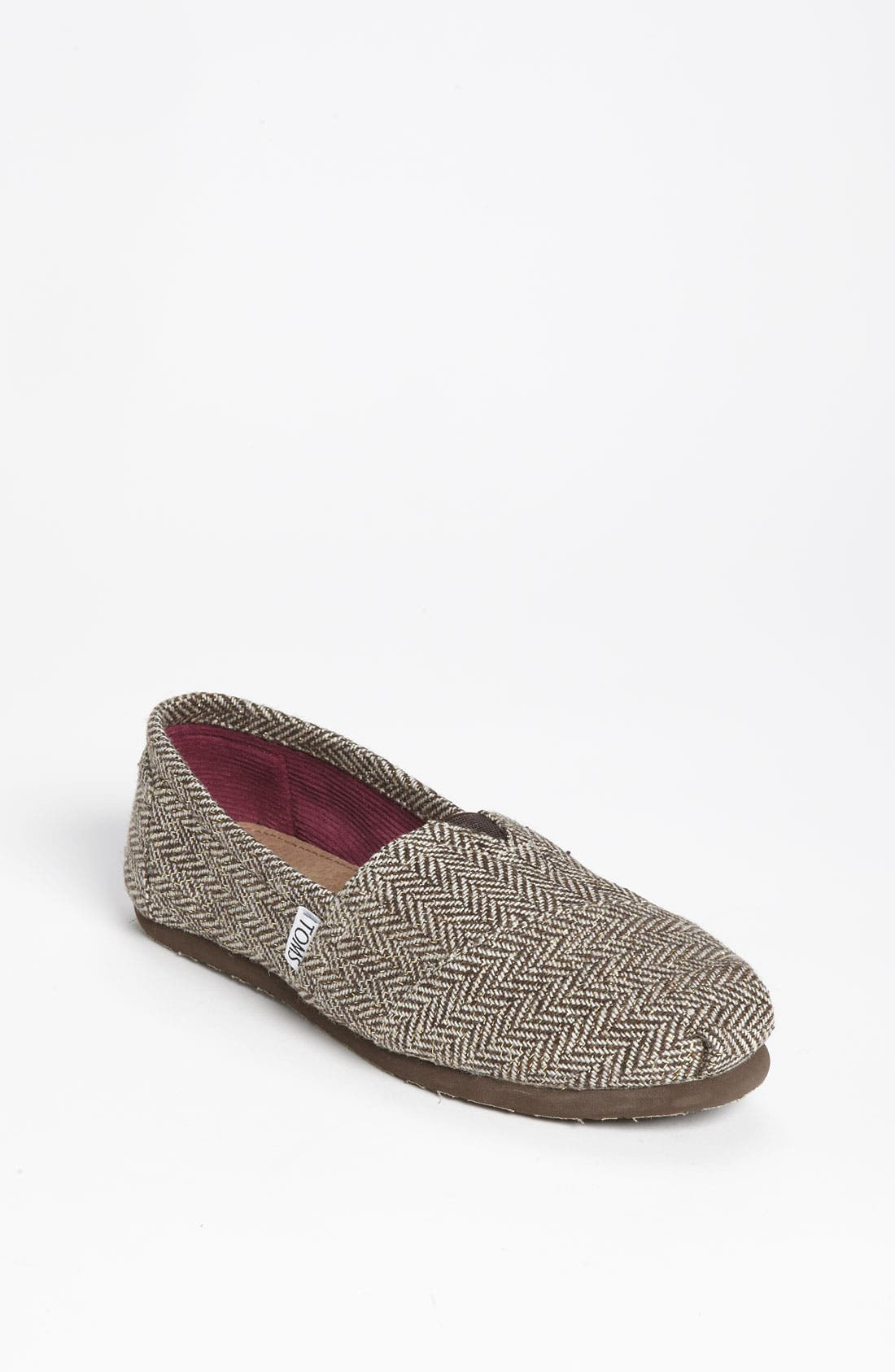 Alternate Image 1 Selected - TOMS 'Classic' Metallic Herringbone Slip-On (Women)
