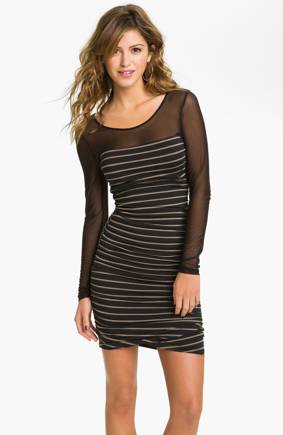 Alternate Image 1 Selected - Jack 'Noel' Mesh Top Dress (Juniors)