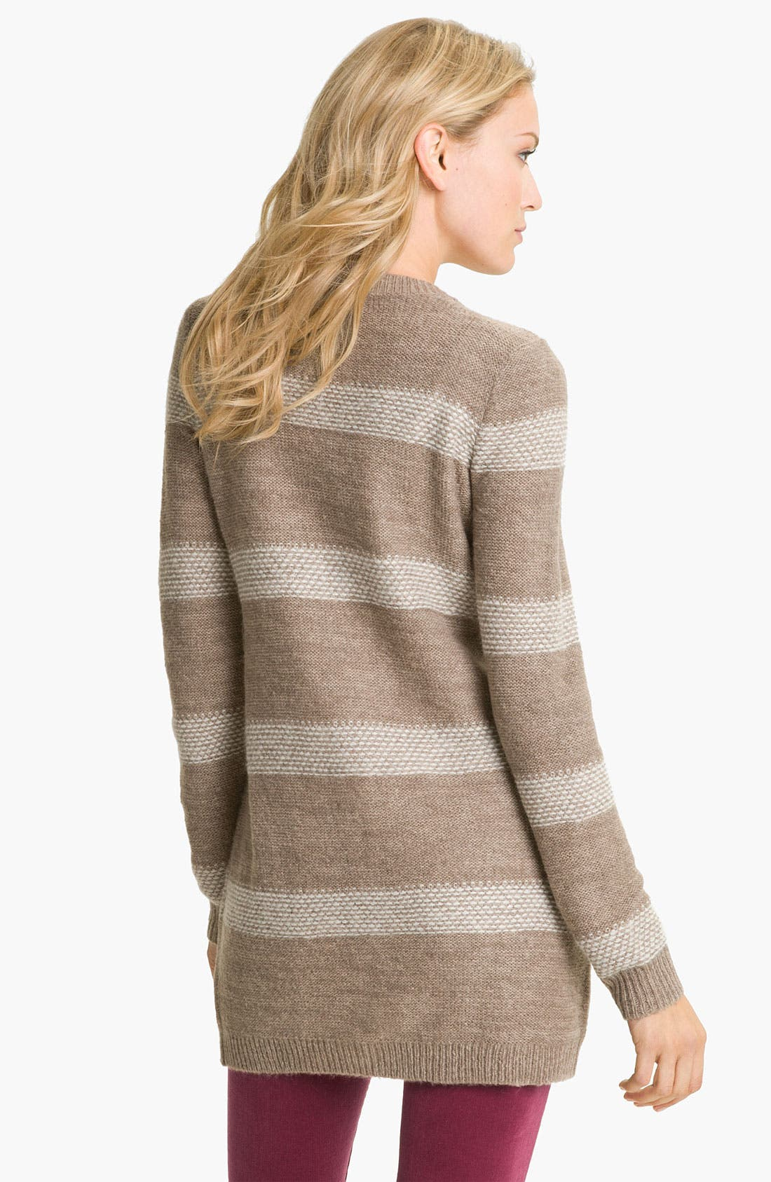 Alternate Image 2  - Caslon® Long Stripe Cardigan