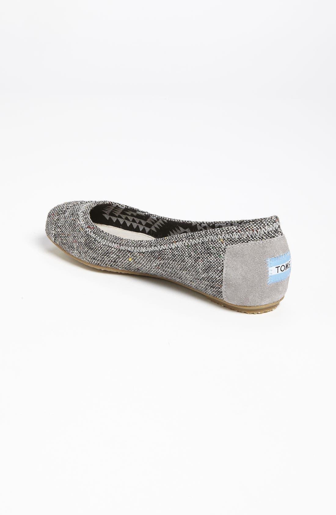 Alternate Image 2  - TOMS 'Tweed Lurex®' Ballet Flat