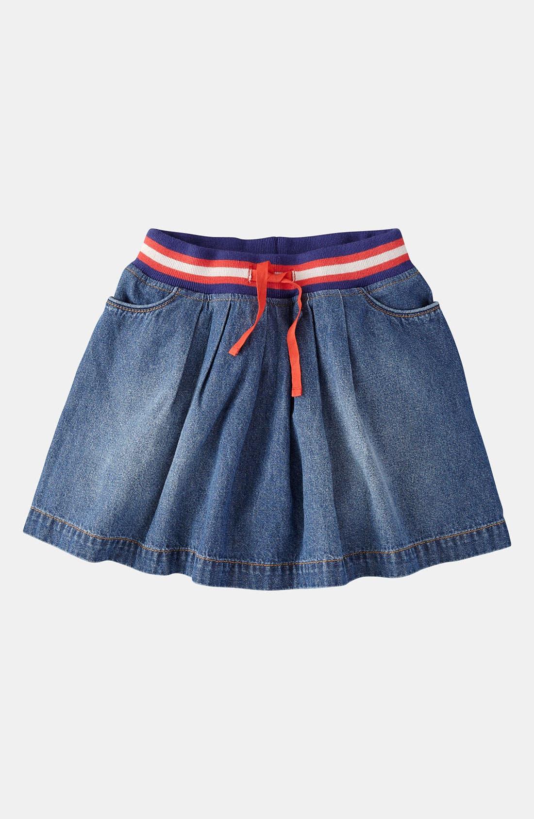 Main Image - Mini Boden Ribbed Waist Skirt (Little Girls & Big Girls)