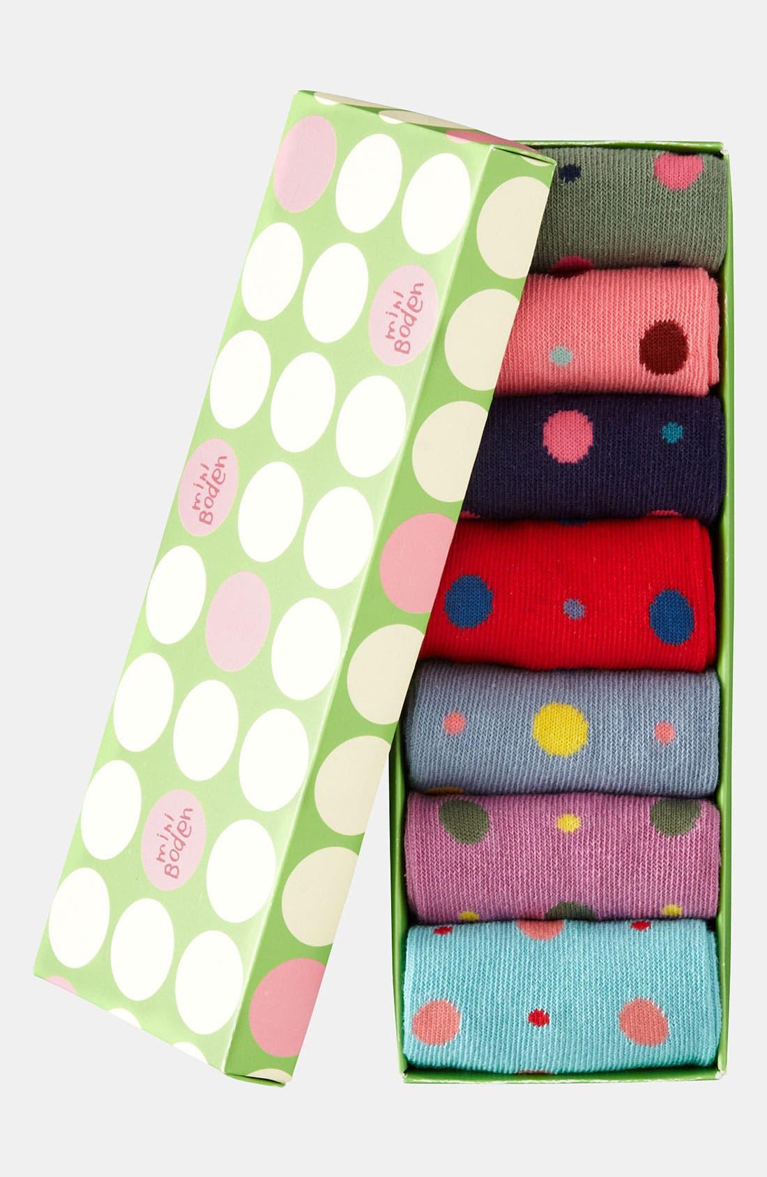 Alternate Image 2  - Mini Boden Socks (7-Pack) (Girls)