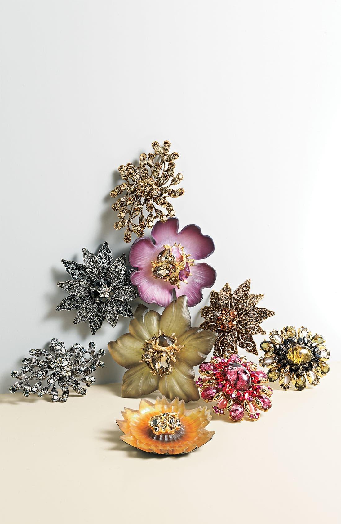 Alternate Image 2  - Tasha Flower Brooch