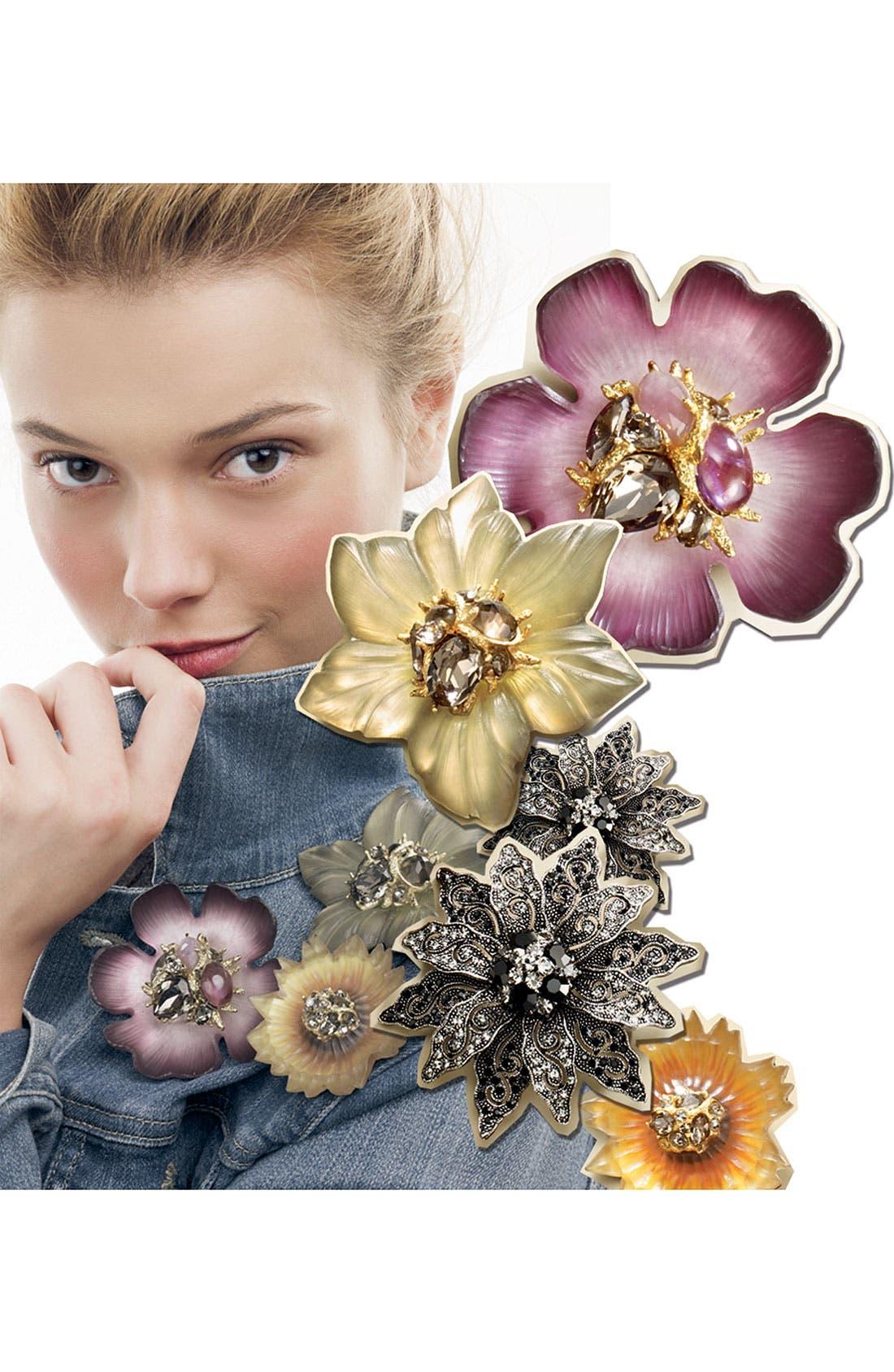 Alternate Image 3  - Tasha Flower Brooch