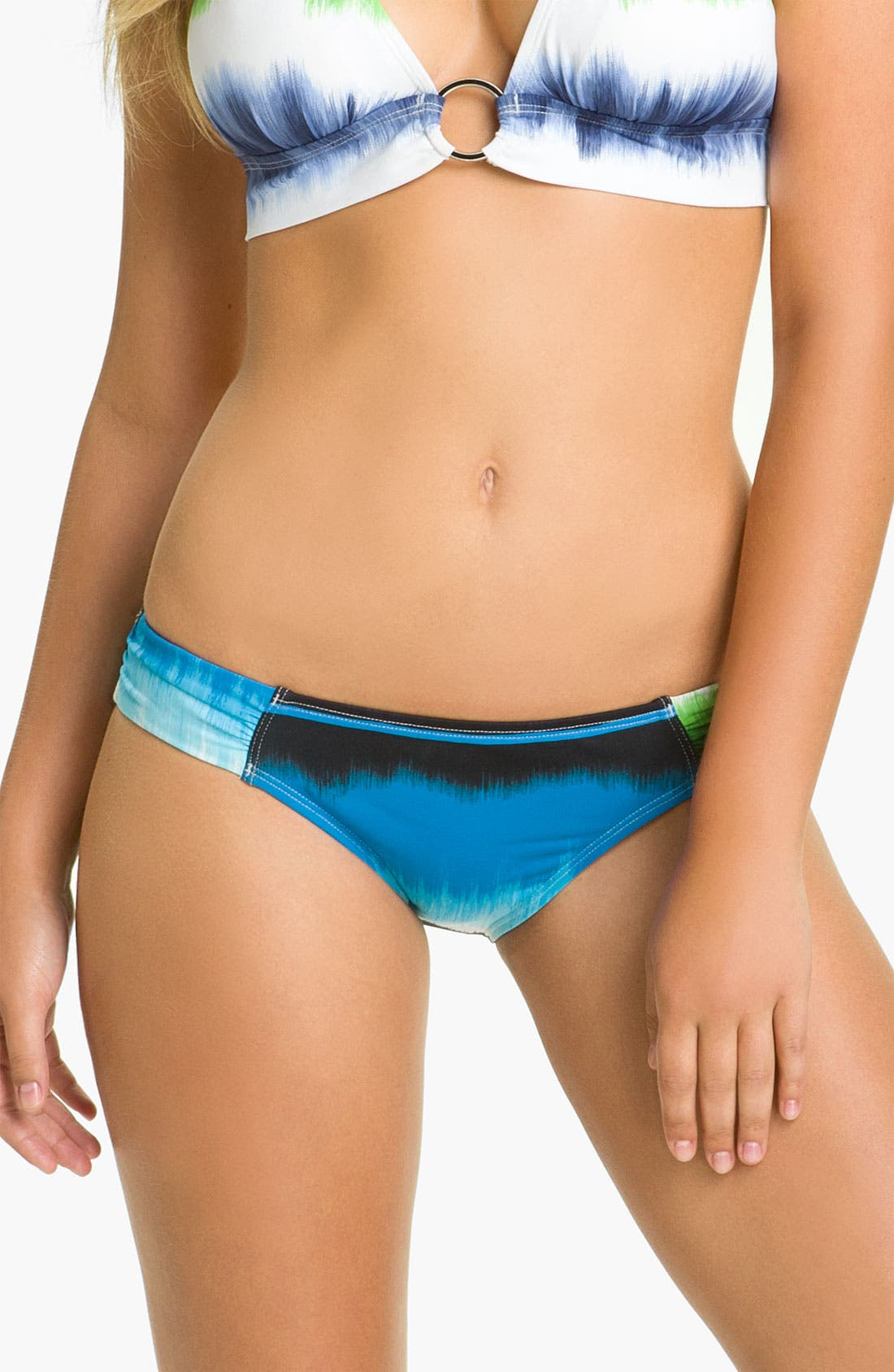 Main Image - Tommy Bahama 'Hazy Ikat Stripe' Shirred Hipster Bikini Bottoms
