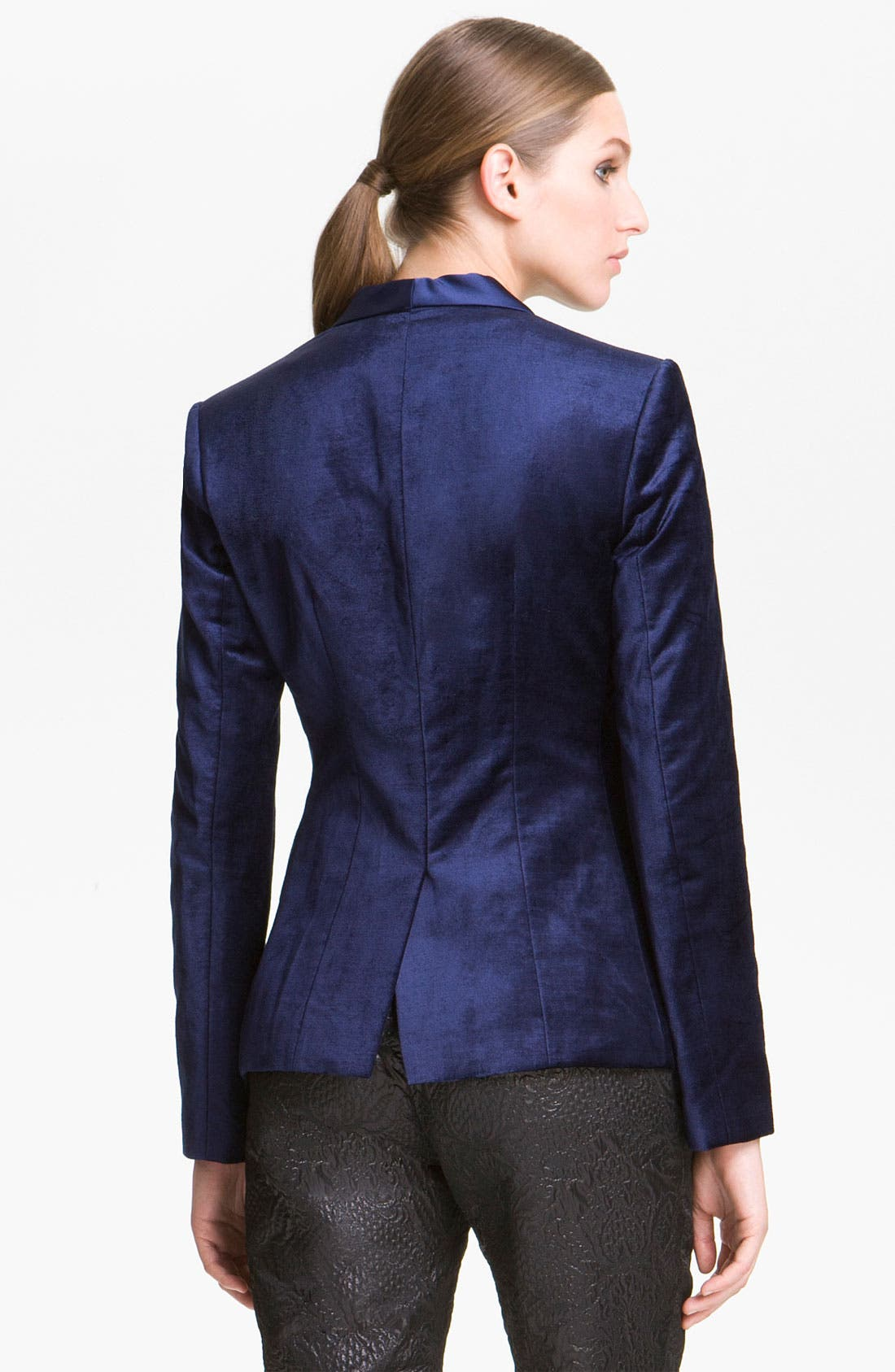 Alternate Image 2  - Elizabeth and James 'Rex' Velvet Tuxedo Blazer