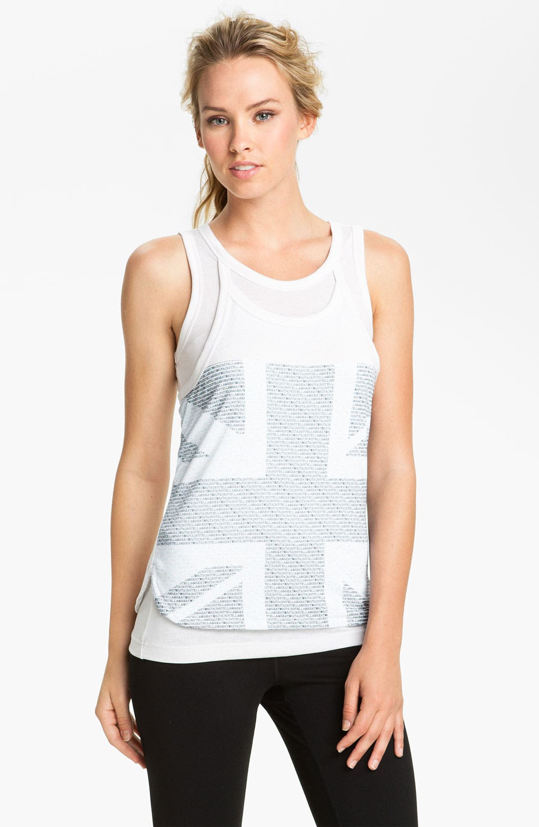 Alternate Image 1 Selected - adidas by Stella McCartney 'GB' Graphic Tank (Online Exclusive)