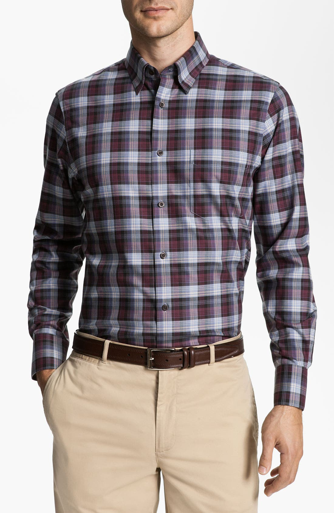 Main Image - Nordstrom Smartcare™ Regular Fit Twill Sport Shirt