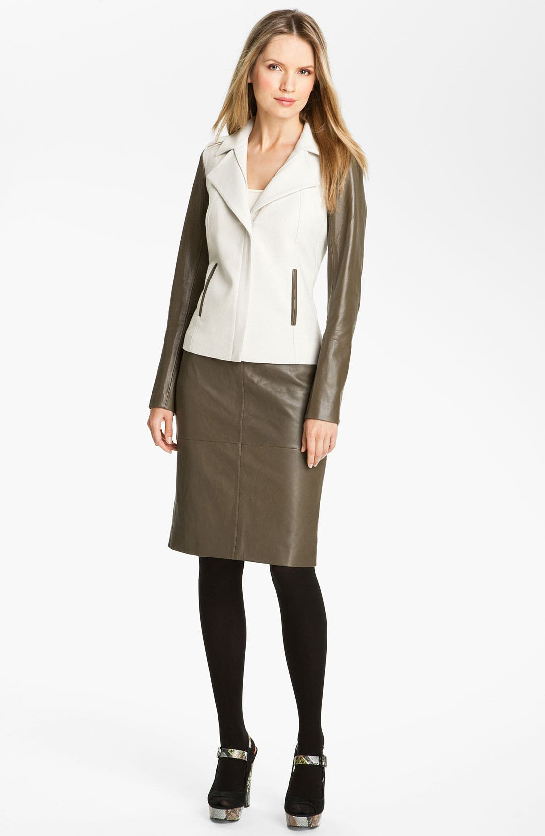 Alternate Image 4  - Classiques Entier® 'Brenna' Leather Pencil Skirt