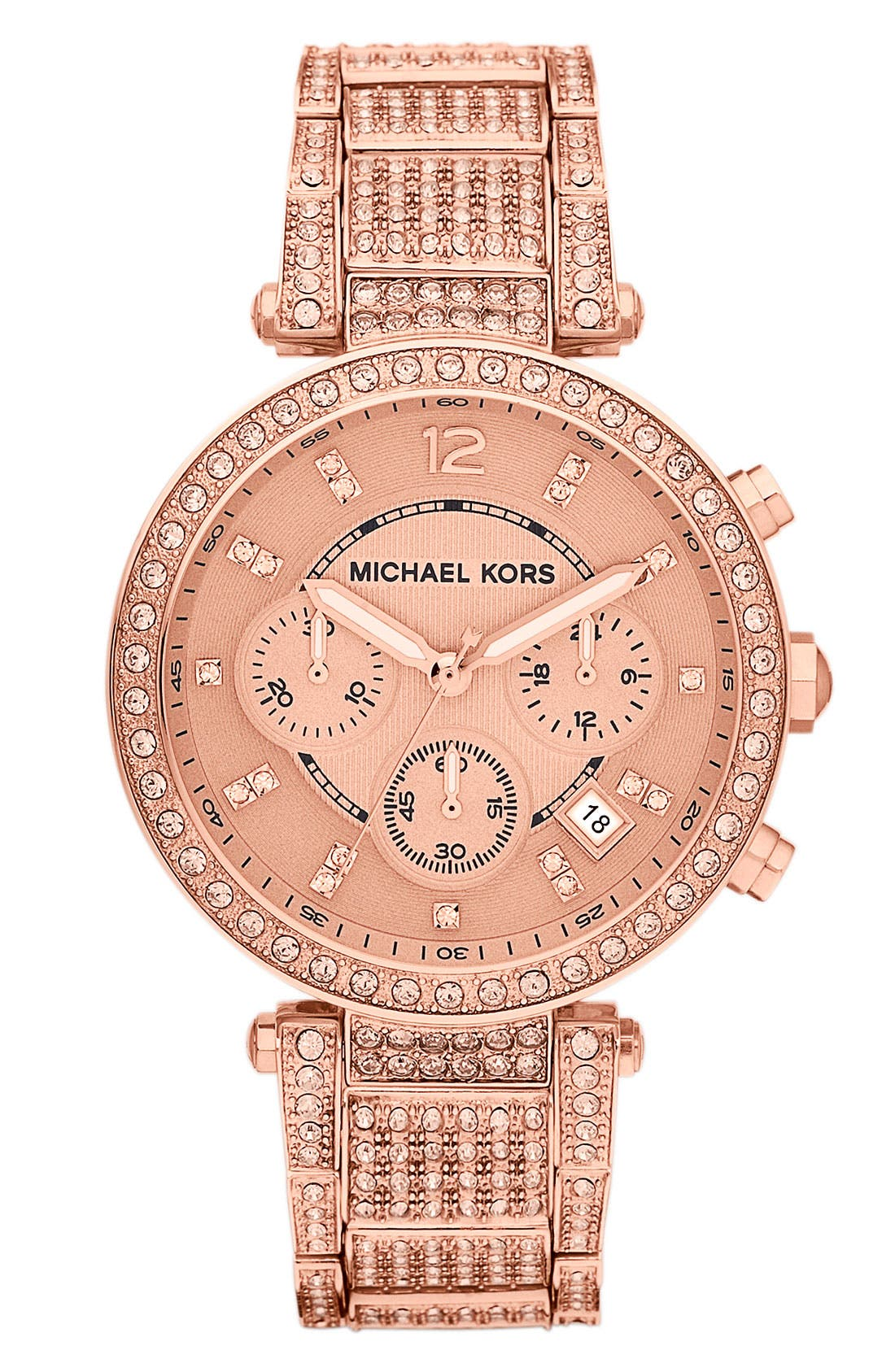 Main Image - Michael Kors 'Parker' Chronograph Bracelet Watch, 39mm