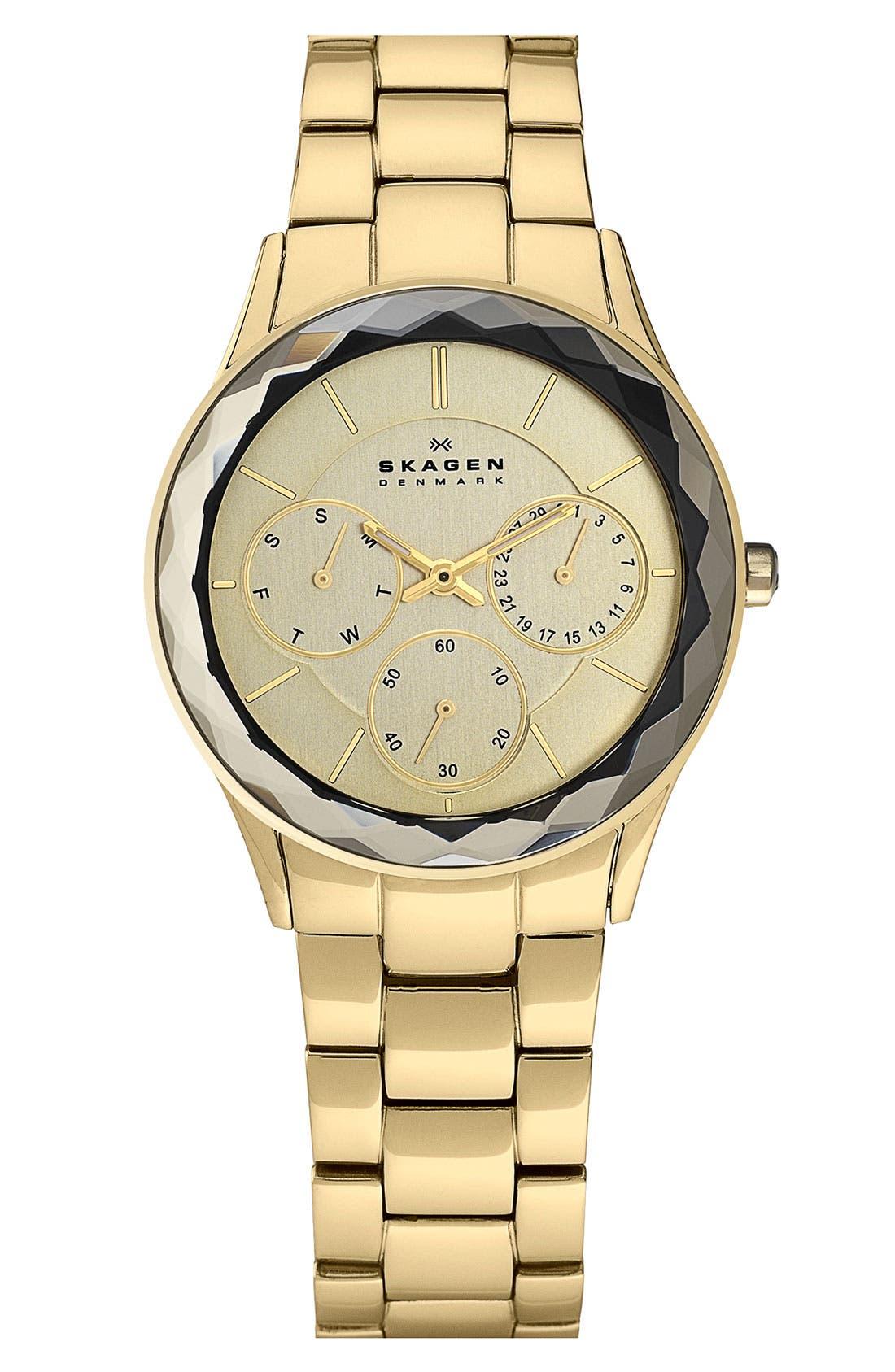 Alternate Image 1 Selected - Skagen Round Bracelet Watch
