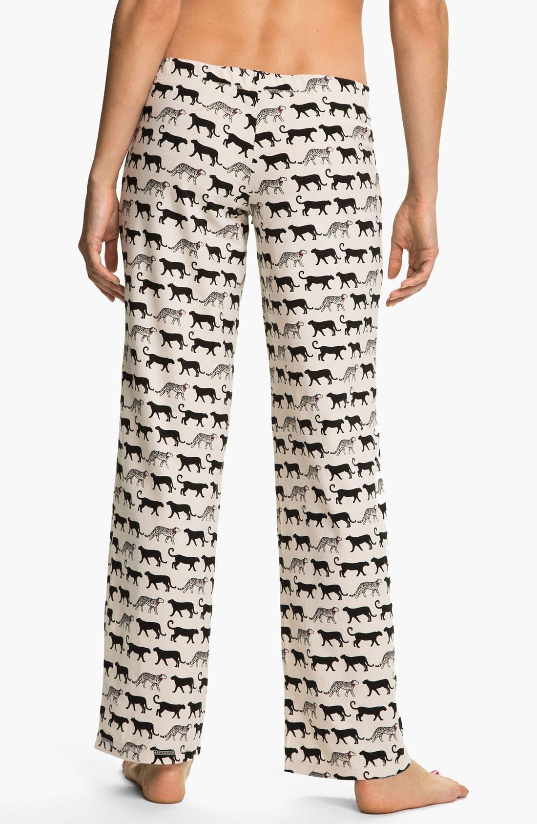 Alternate Image 2  - In Bloom by Jonquil 'Cheetah Tease' Pajama Pants