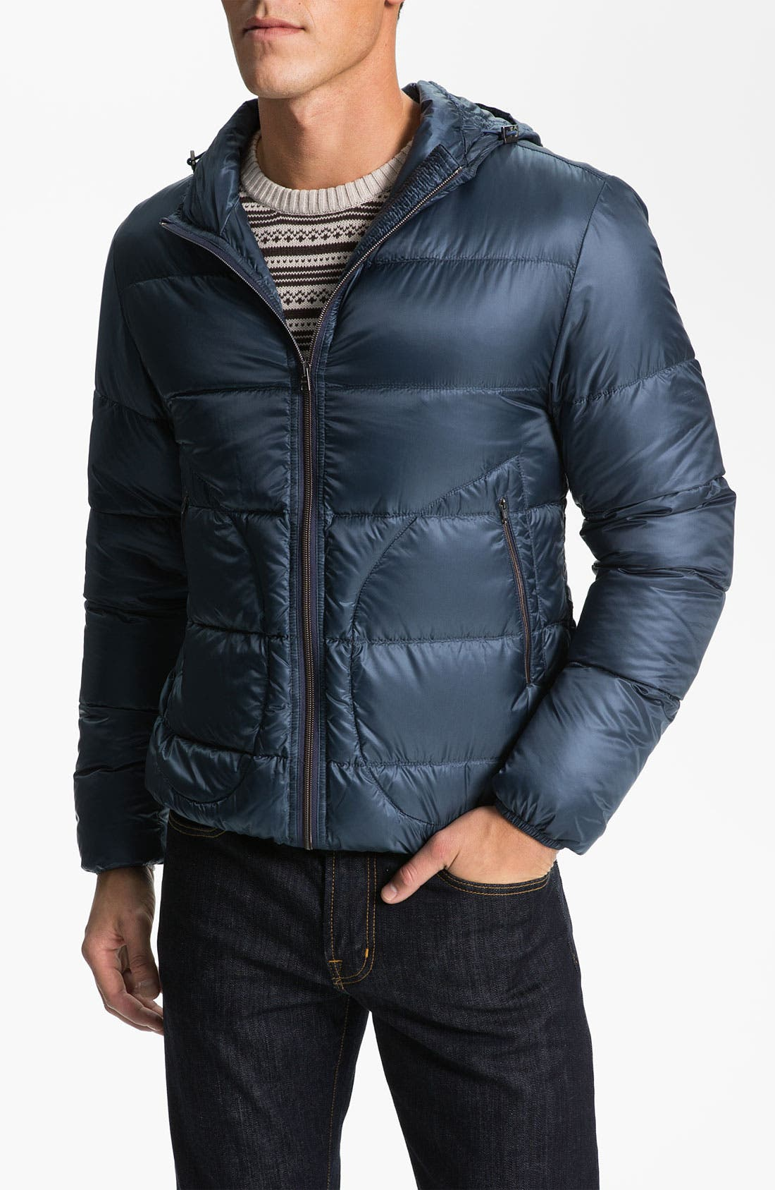 Alternate Image 1 Selected - Herno Hooded Quilted Down Jacket