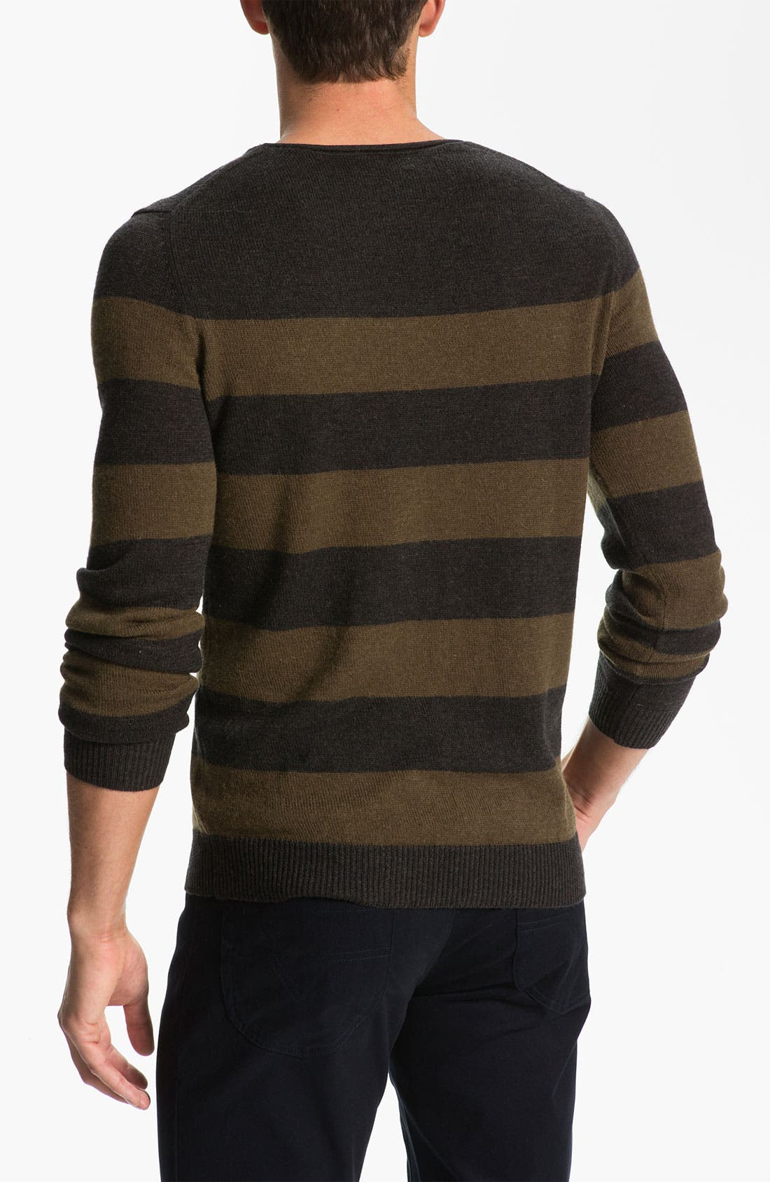 Alternate Image 2  - Vince Stripe Mélange Knit Sweater