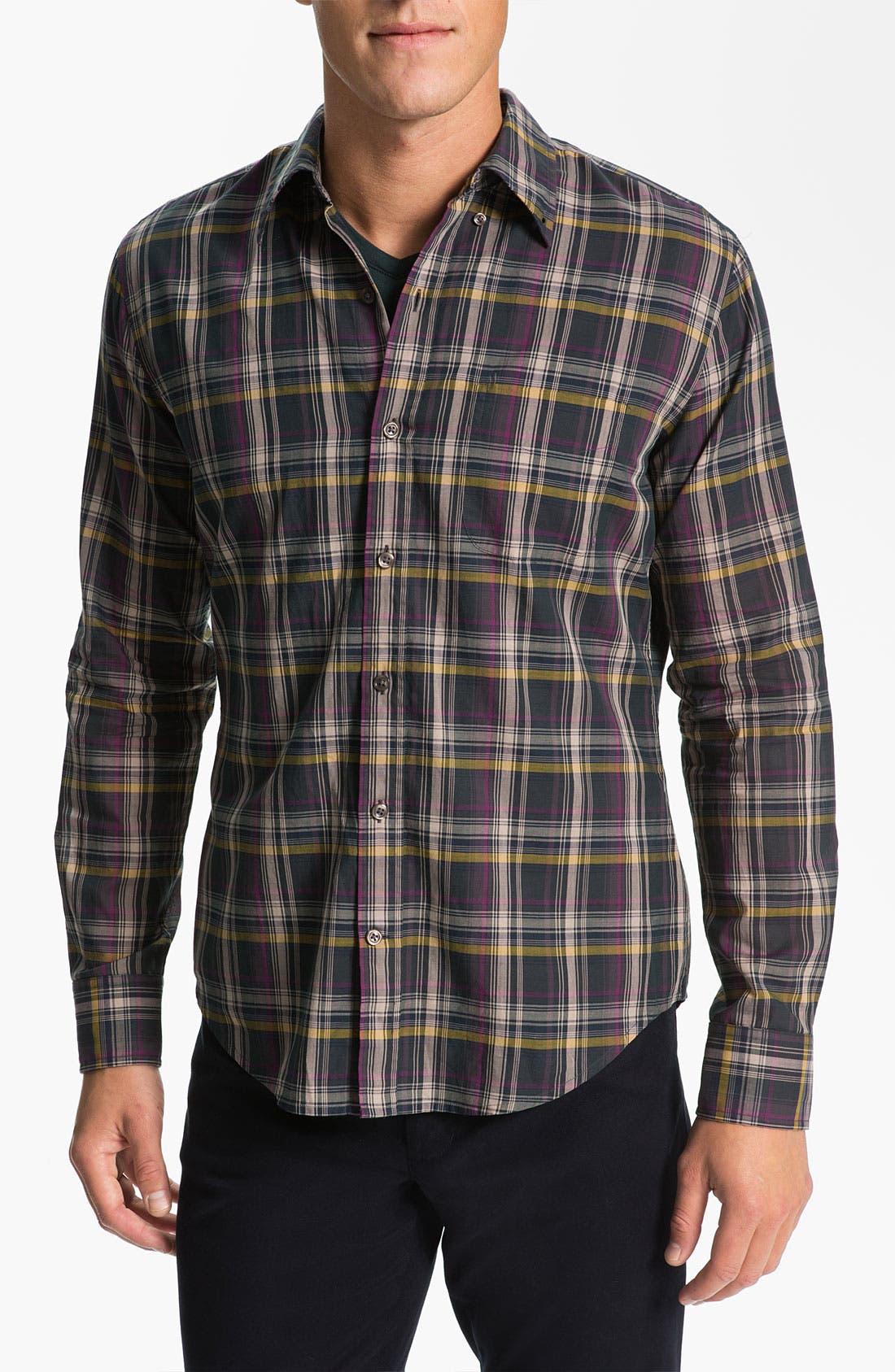 Alternate Image 1 Selected - Vince Plaid Woven Shirt