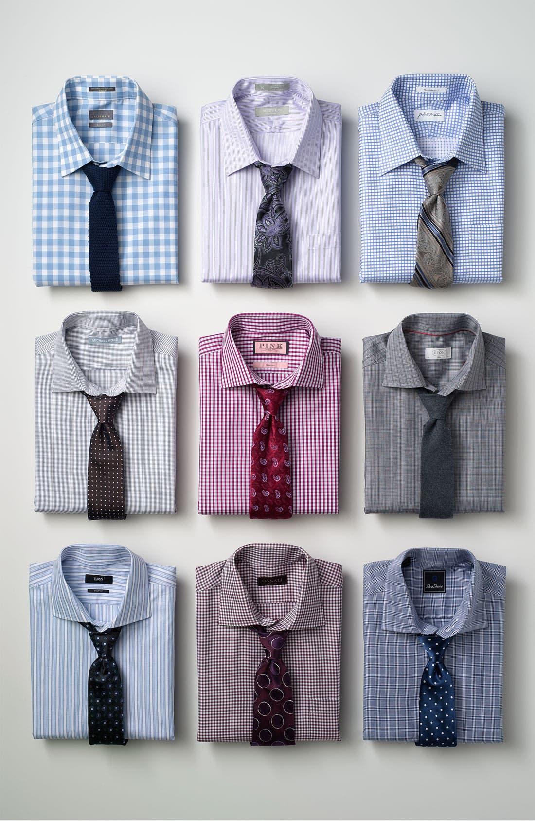 Alternate Image 3  - Eton Contemporary Fit Dress Shirt
