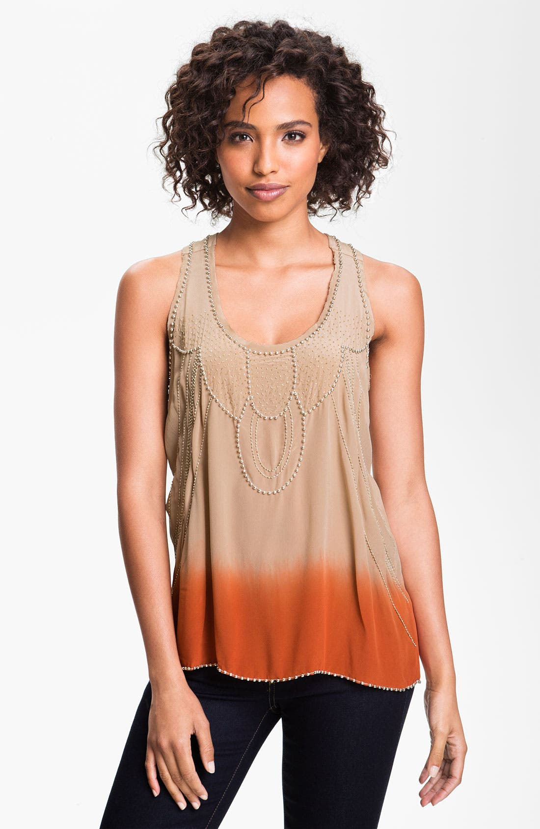 Main Image - Willow & Clay Embellished Dip Dye Tank