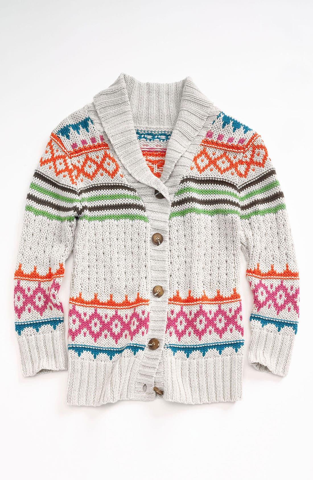 Main Image - Peek 'Aztec' Wrap Sweater (Toddler, Little Girls & Big Girls)