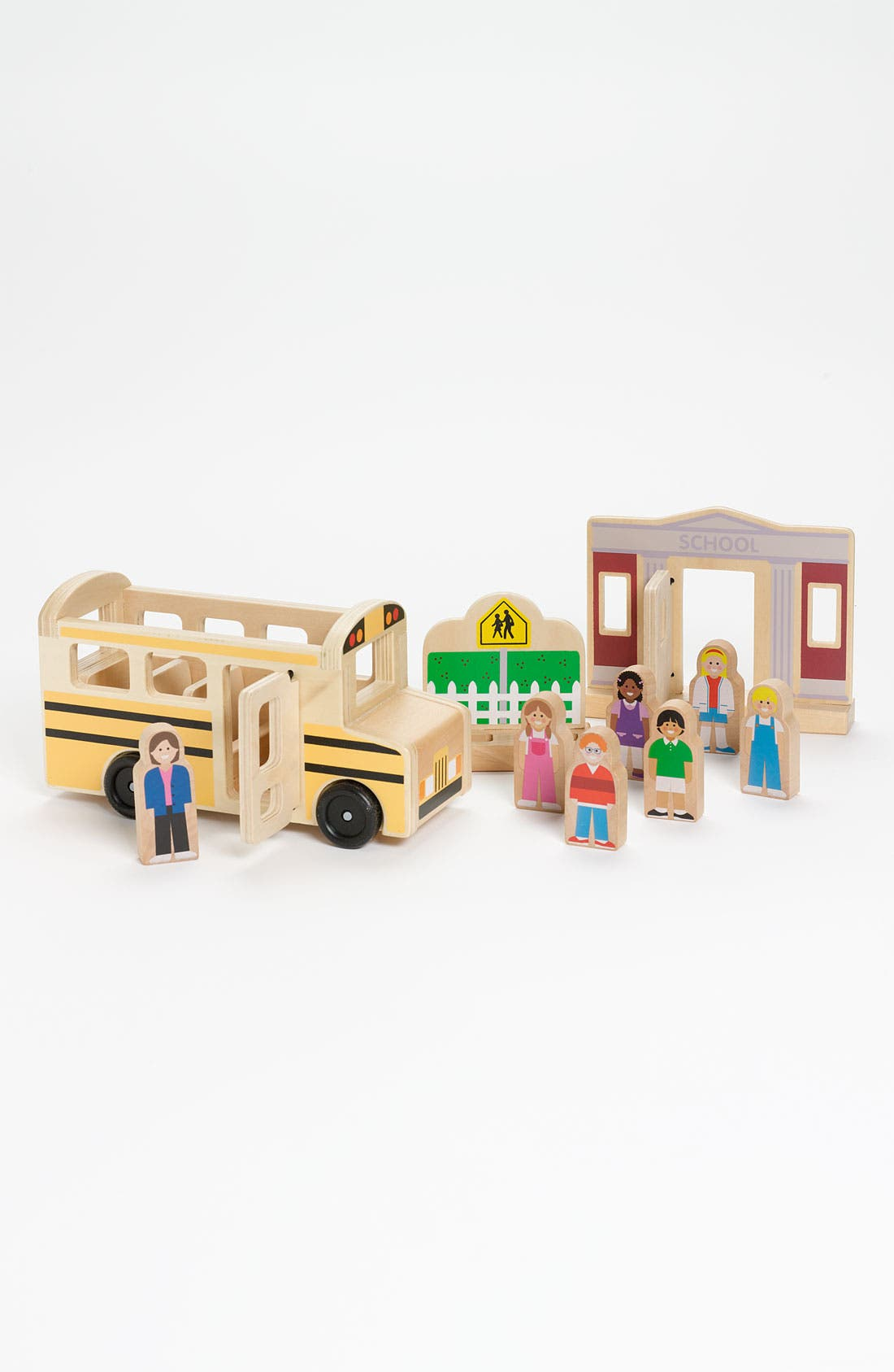 Main Image - Melissa & Doug Wooden School Bus Set