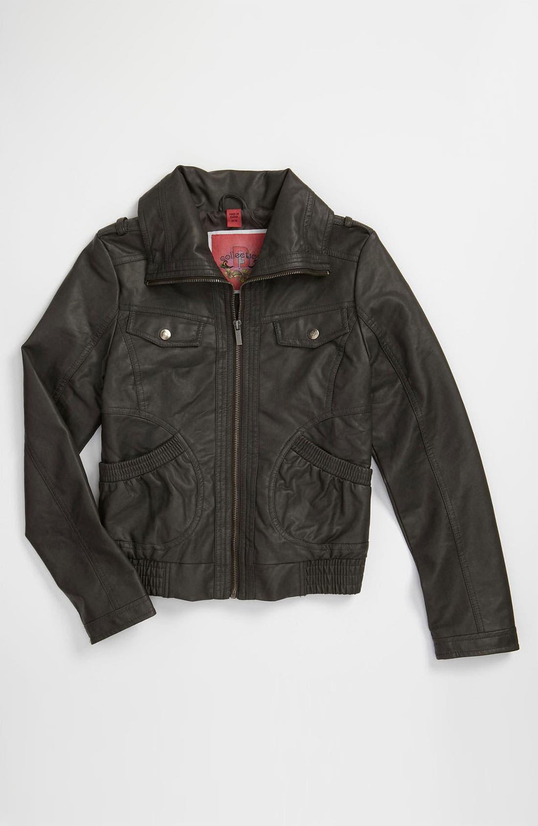 Main Image - Collection B Crinkle Jacket (Big Girls)