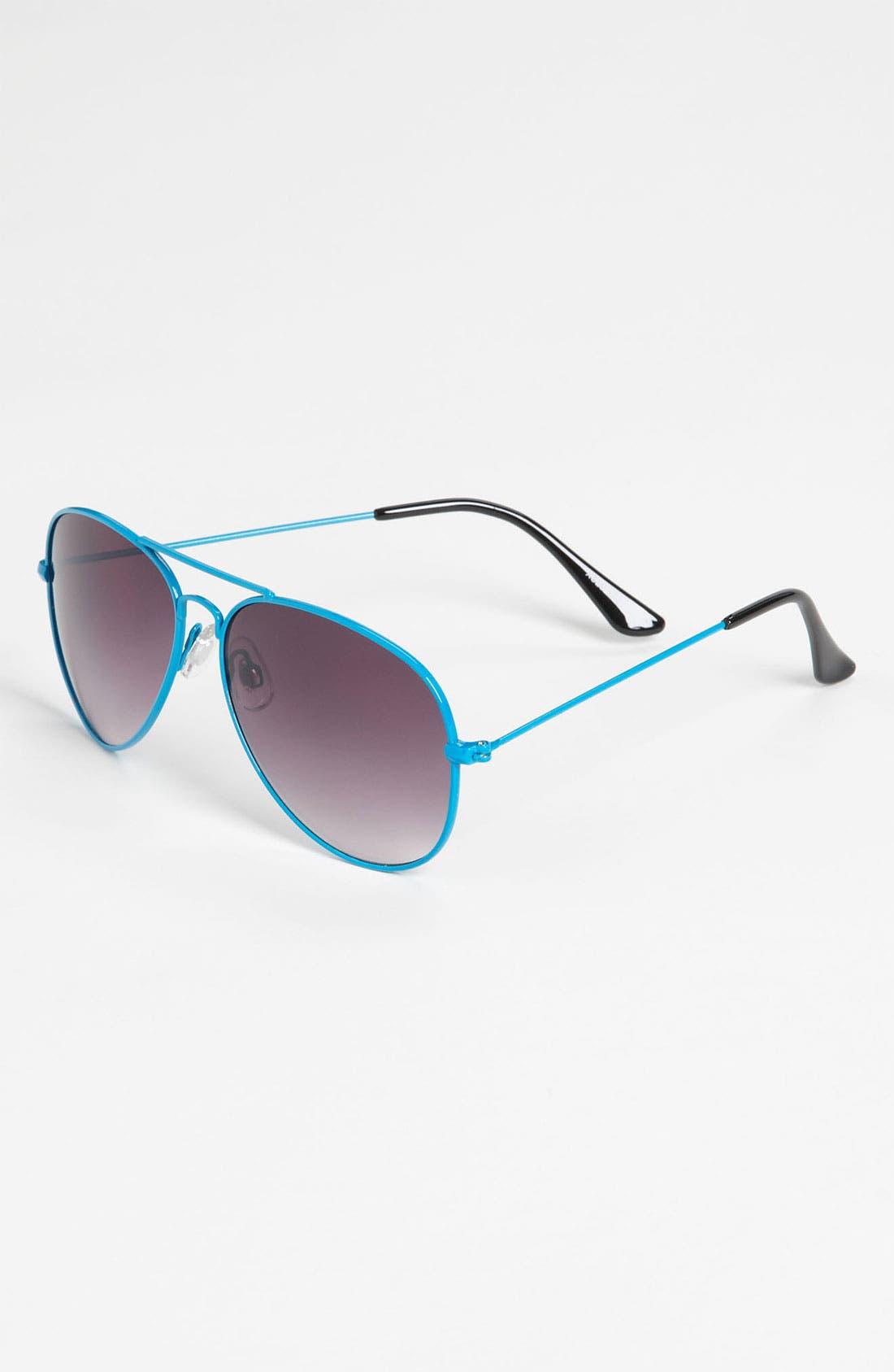 Alternate Image 1 Selected - Fantas Eyes Aviator Sunglasses (Girls)