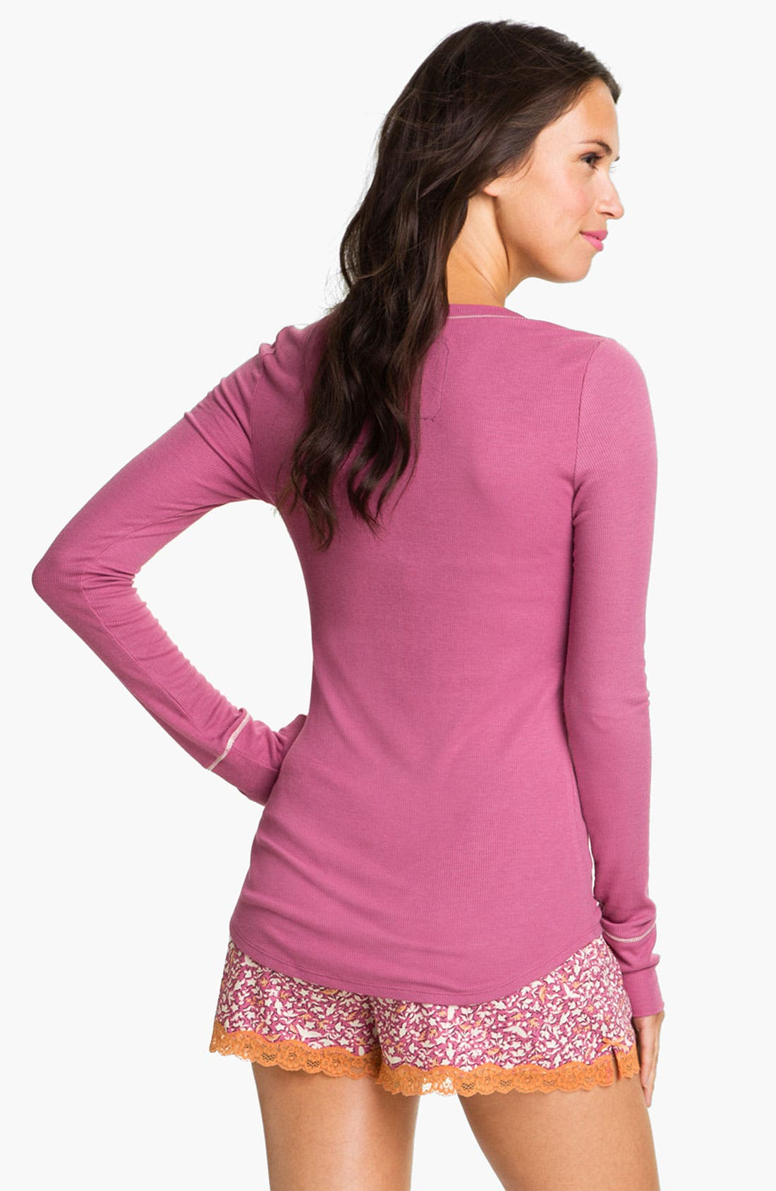 Alternate Image 2  - Kensie 'Finding Flora' Long Sleeve Henley