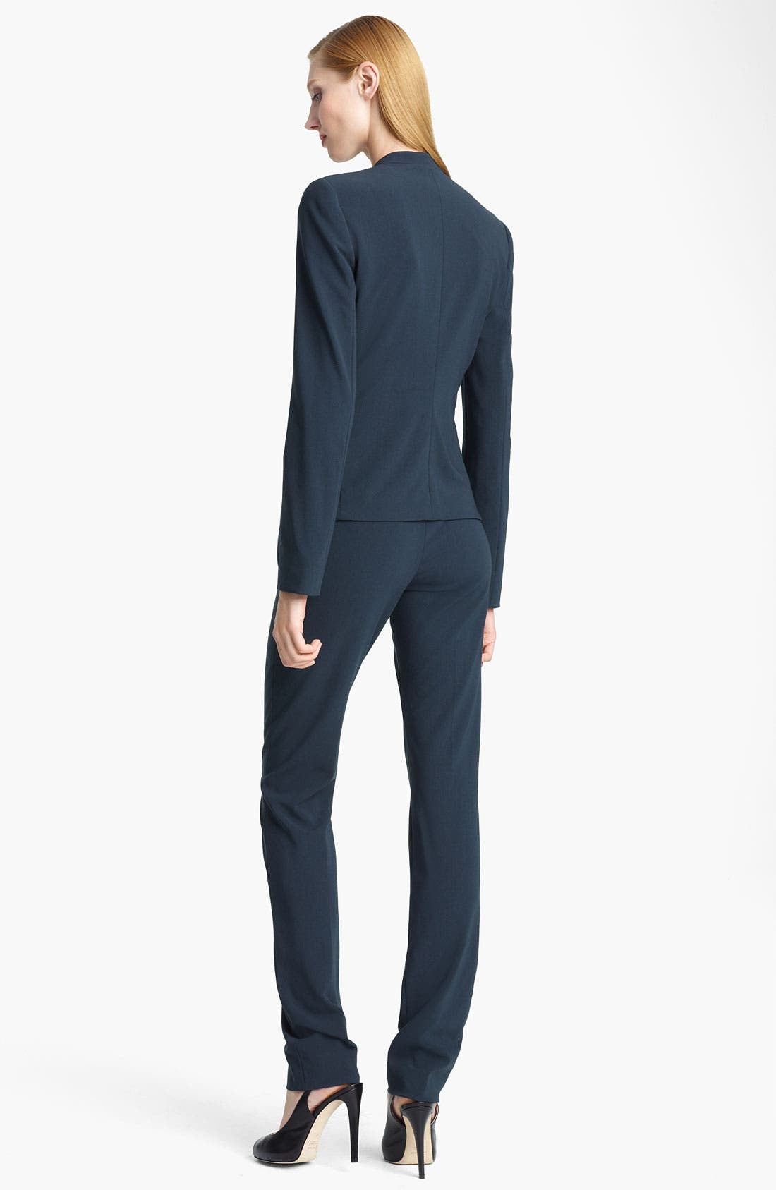 Alternate Image 3  - Armani Collezioni Collarless Crepe Jacket