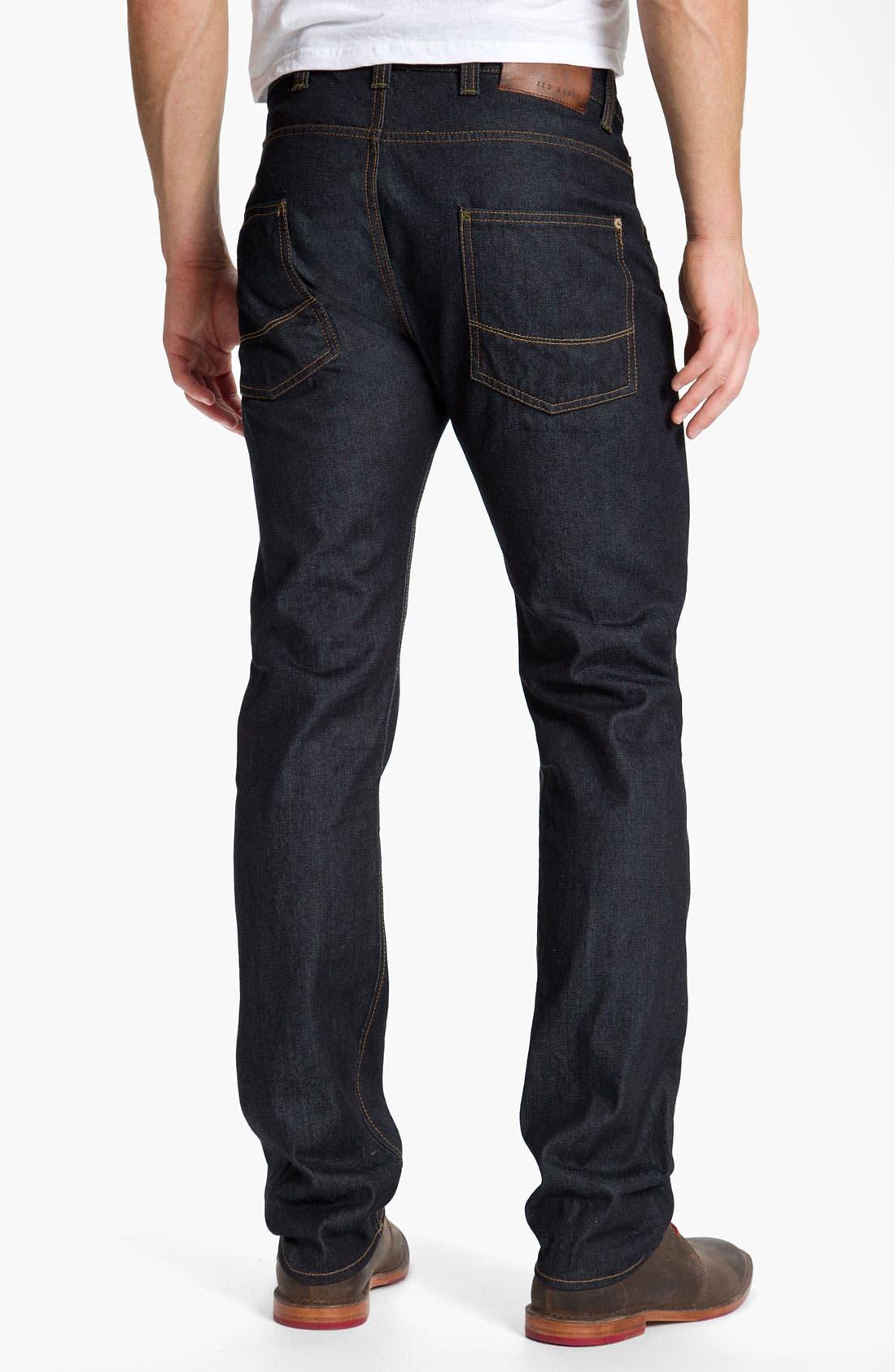 Alternate Image 2  - Ted Baker London Straight Leg Jeans (Rinse Denim)