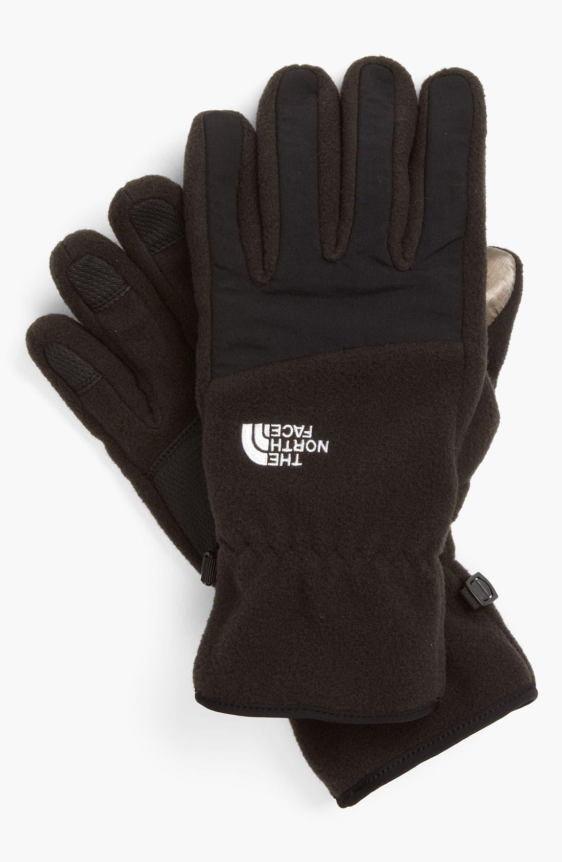 Alternate Image 1 Selected - The North Face 'E-Tip Denali' Fleece Gloves