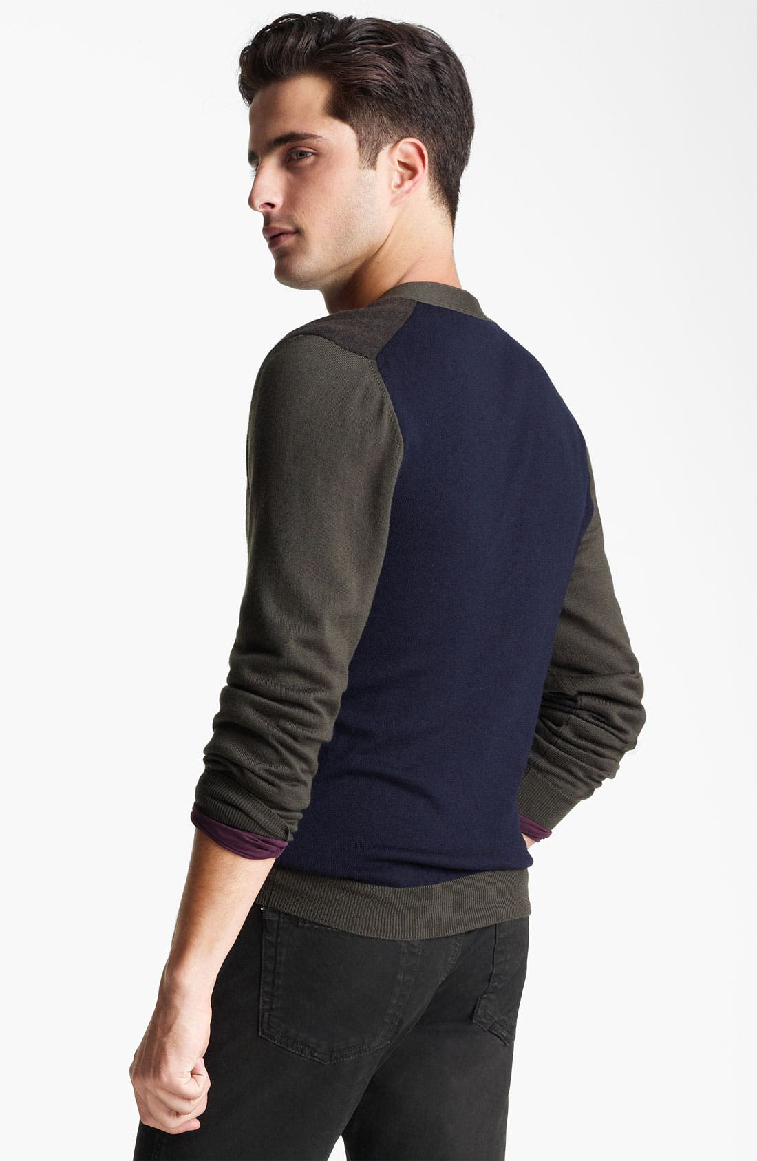 Alternate Image 2  - Z Zegna Colorblocked Wool Cardigan