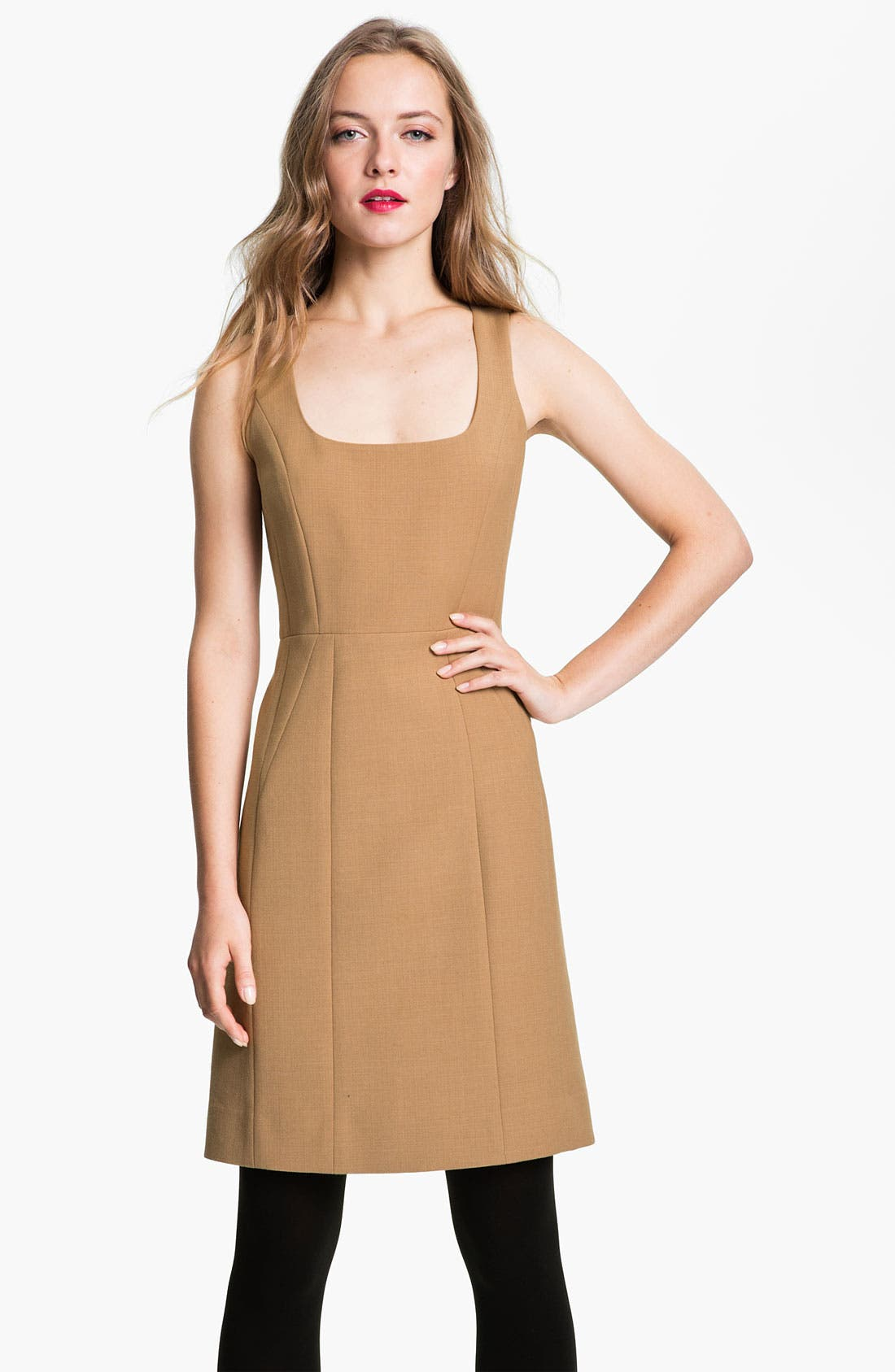 Main Image - Tory Burch 'Azalea' Stretch Wool Sheath Dress