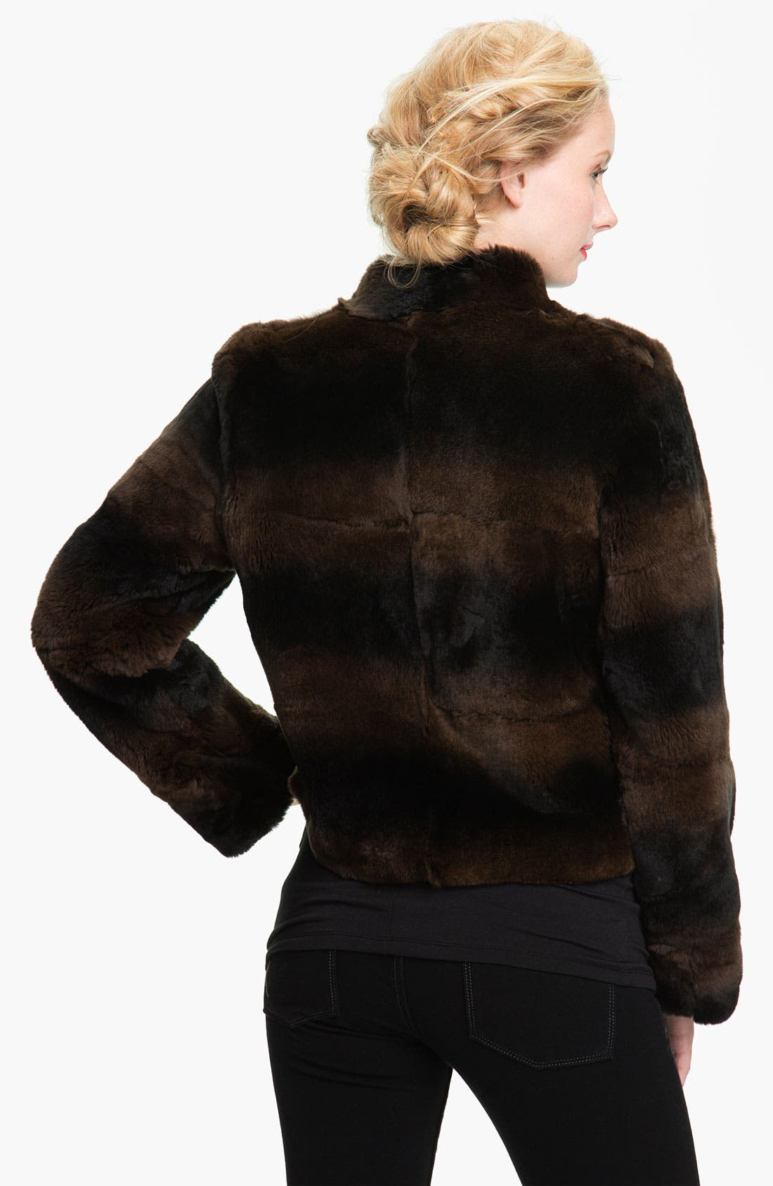 Alternate Image 2  - Blue Duck Genuine Rabbit Fur Jacket