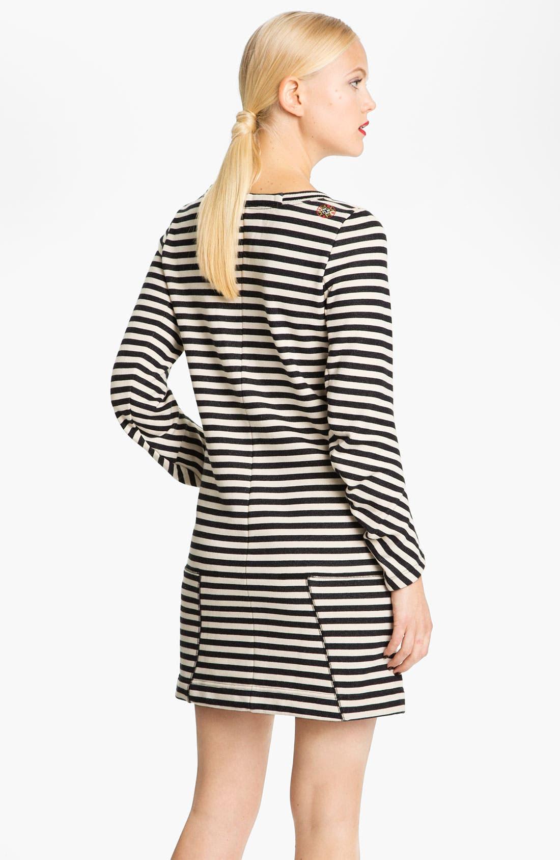 Alternate Image 2  - MARC BY MARC JACOBS 'Ben' Stripe Sweatshirt Dress