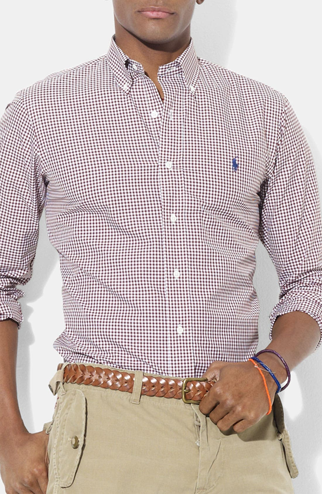 Alternate Image 1 Selected - Polo Ralph Lauren Custom Fit Poplin Sport Shirt