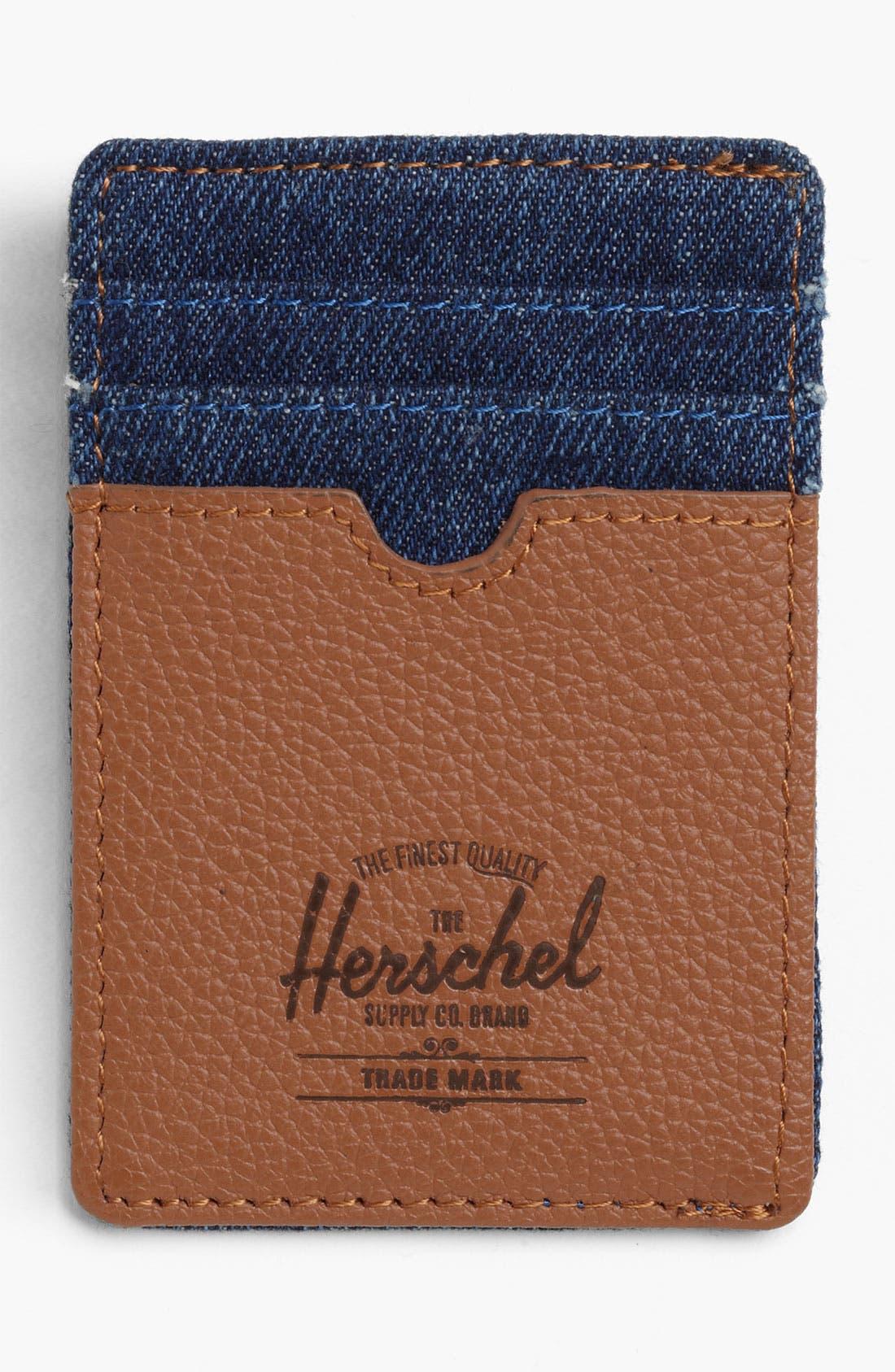 Alternate Image 1 Selected - Herschel Supply Co. 'Raven - Denim Collection' Card Case