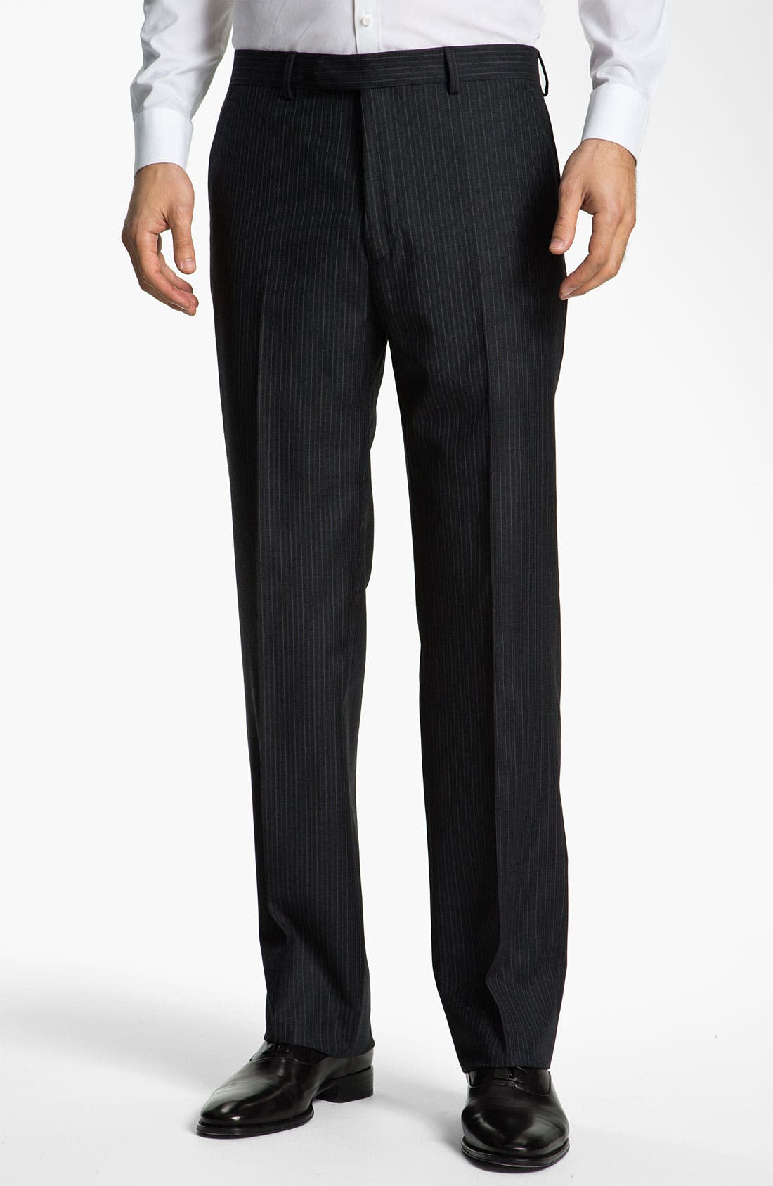 Alternate Image 4  - John Varvatos Star USA 'Bedford' Trim Fit Stripe Suit
