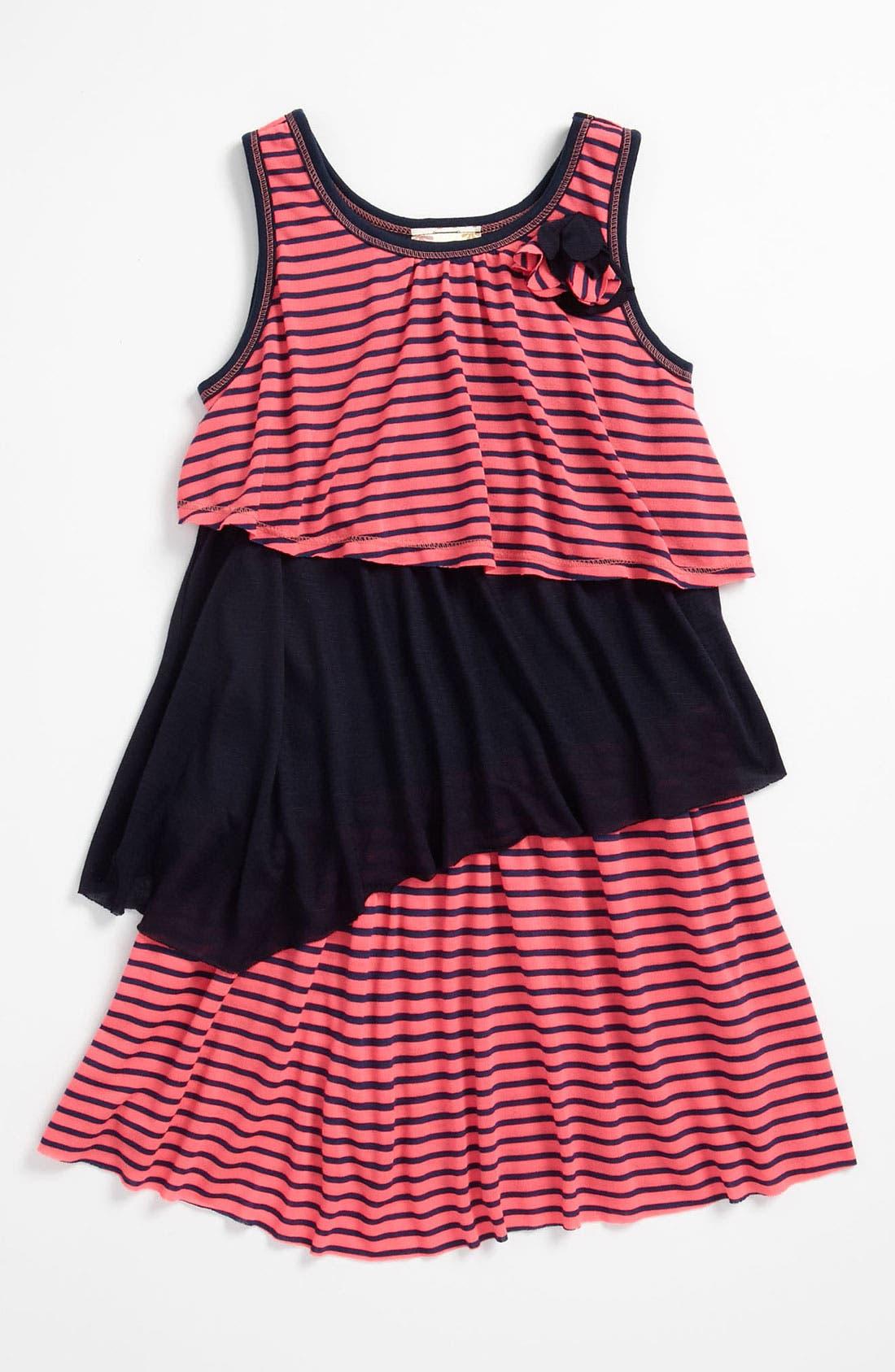 Main Image - Pink Vanilla Colorblock Tank Dress (Little Girls)