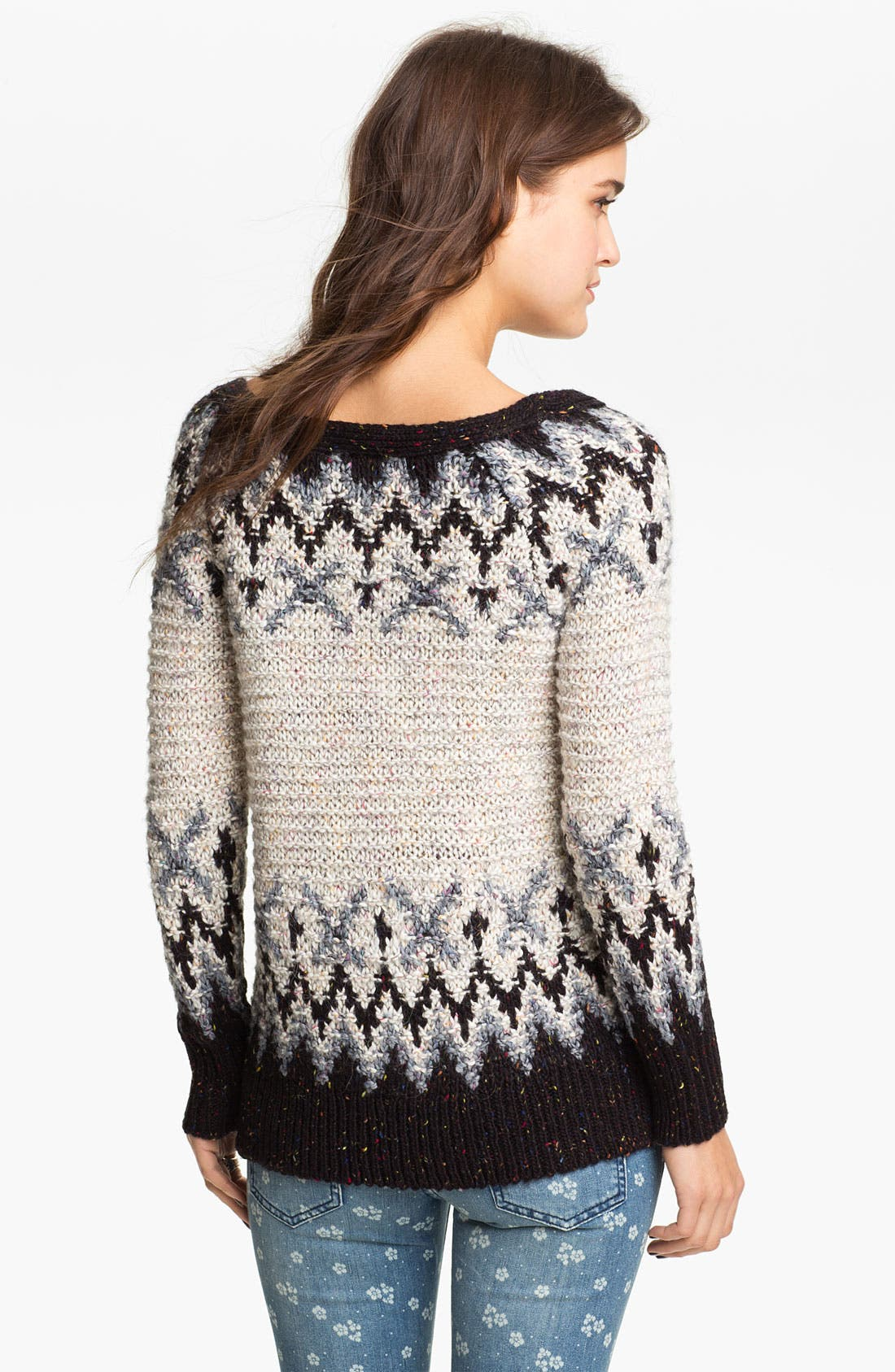 Alternate Image 2  - Free People 'Love Bug' Lace-Up Nordic Sweater