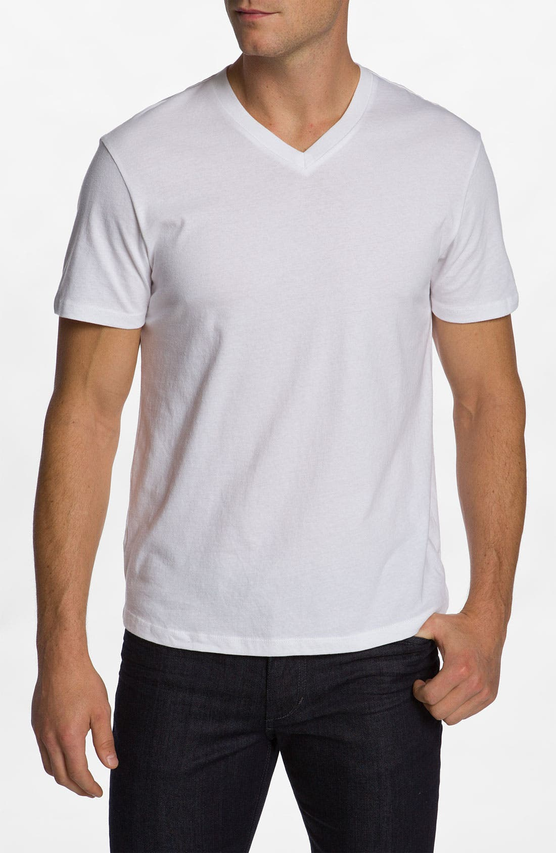 Main Image - The Rail Slim Fit V-Neck T-Shirt (2 for $30)