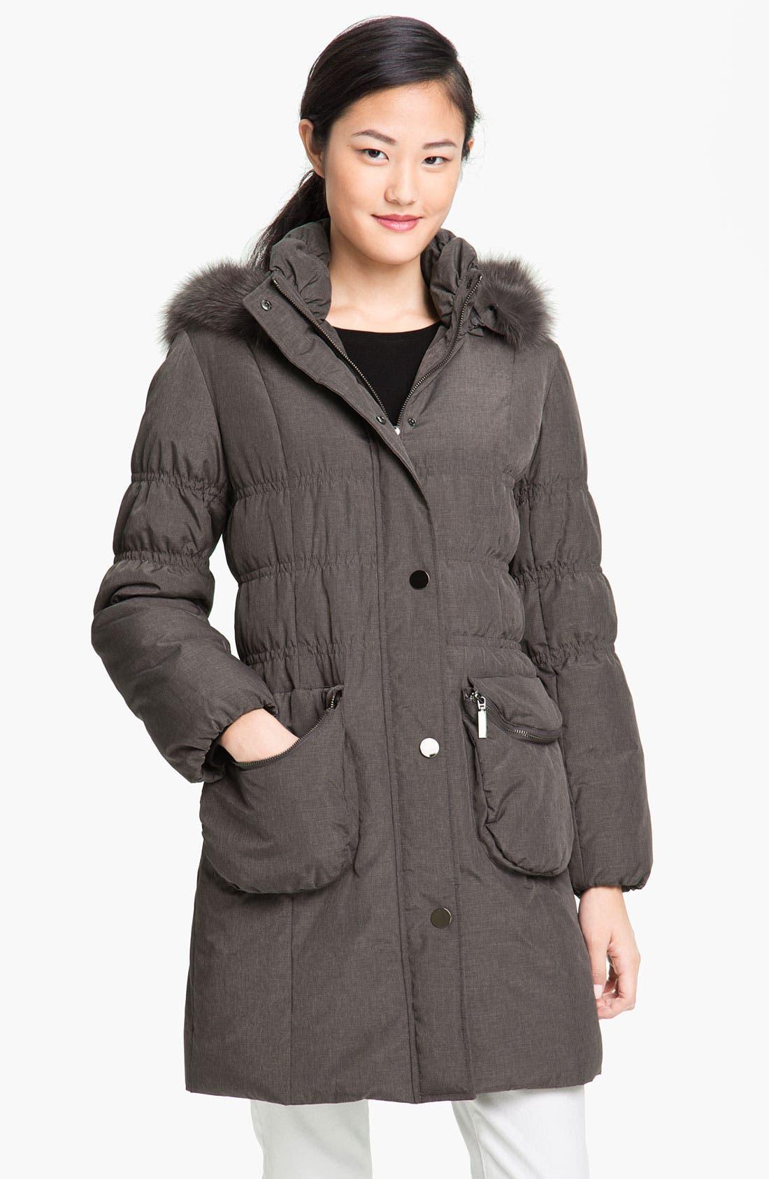 Alternate Image 1 Selected - Jessica Wilde Down Coat with Genuine Fox Fur