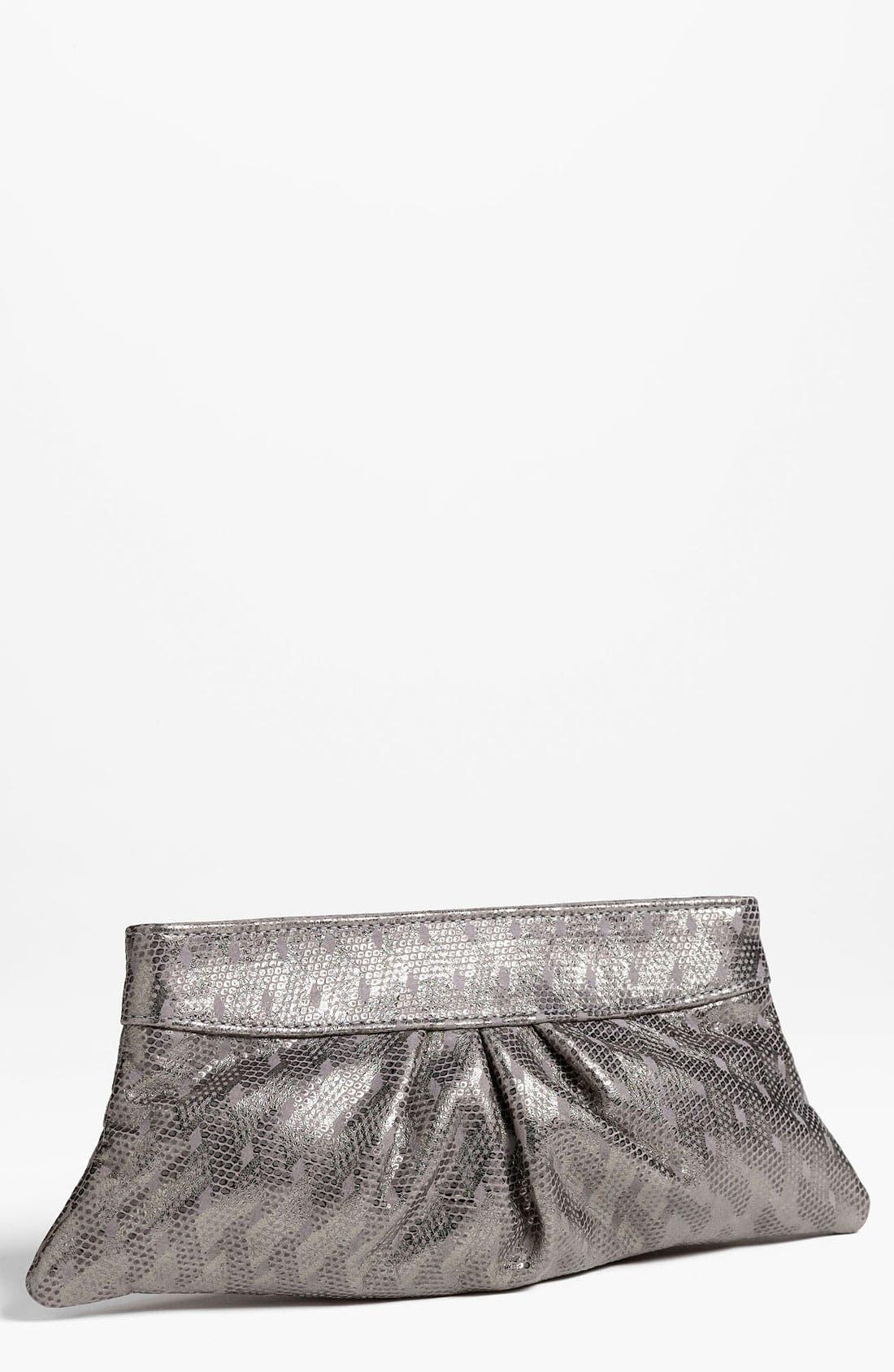 Alternate Image 1 Selected - Lauren Merkin 'Eve' Embossed Metallic Clutch