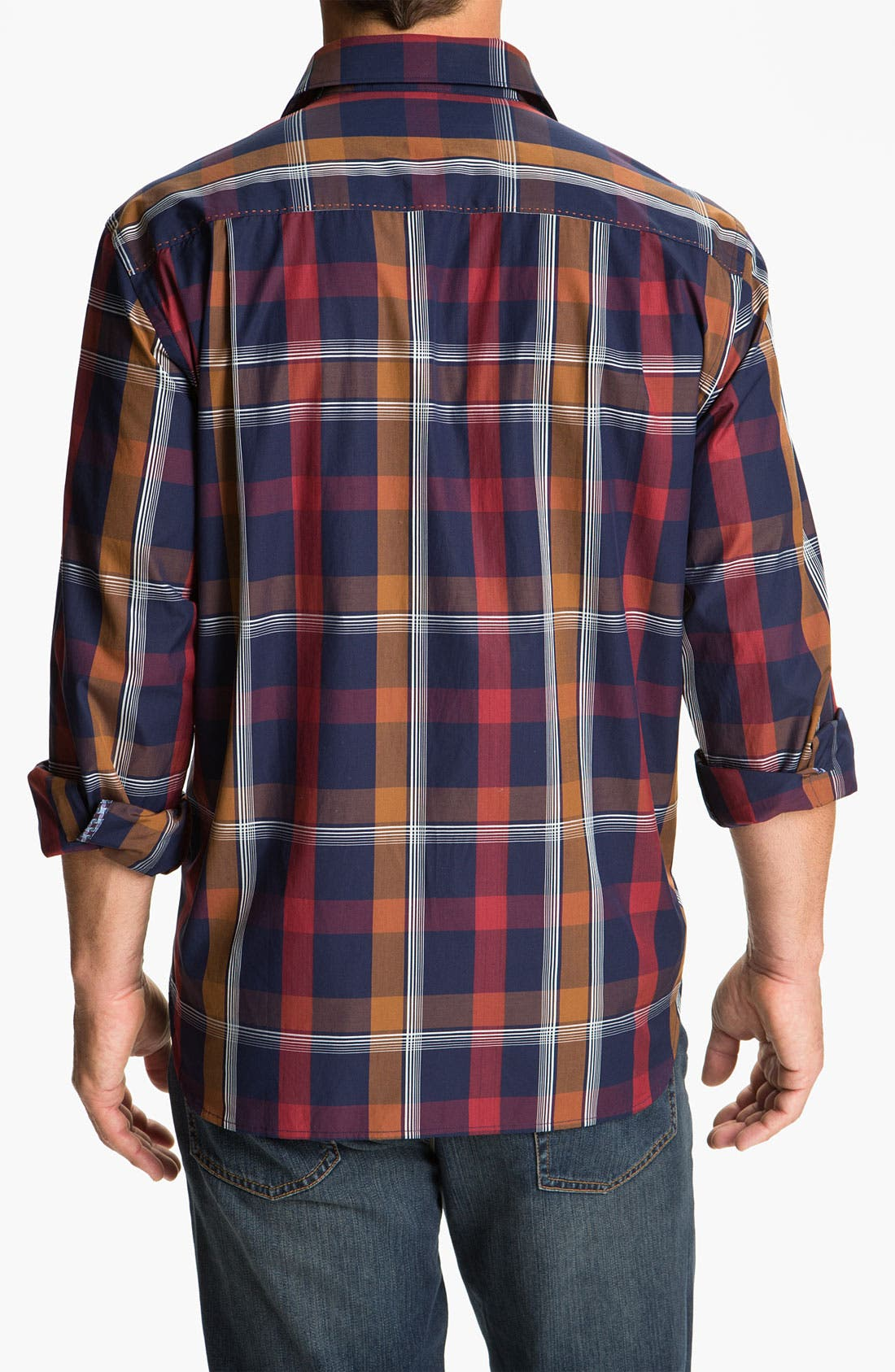 Alternate Image 2  - Tommy Bahama 'Plaid By Night' Sport Shirt