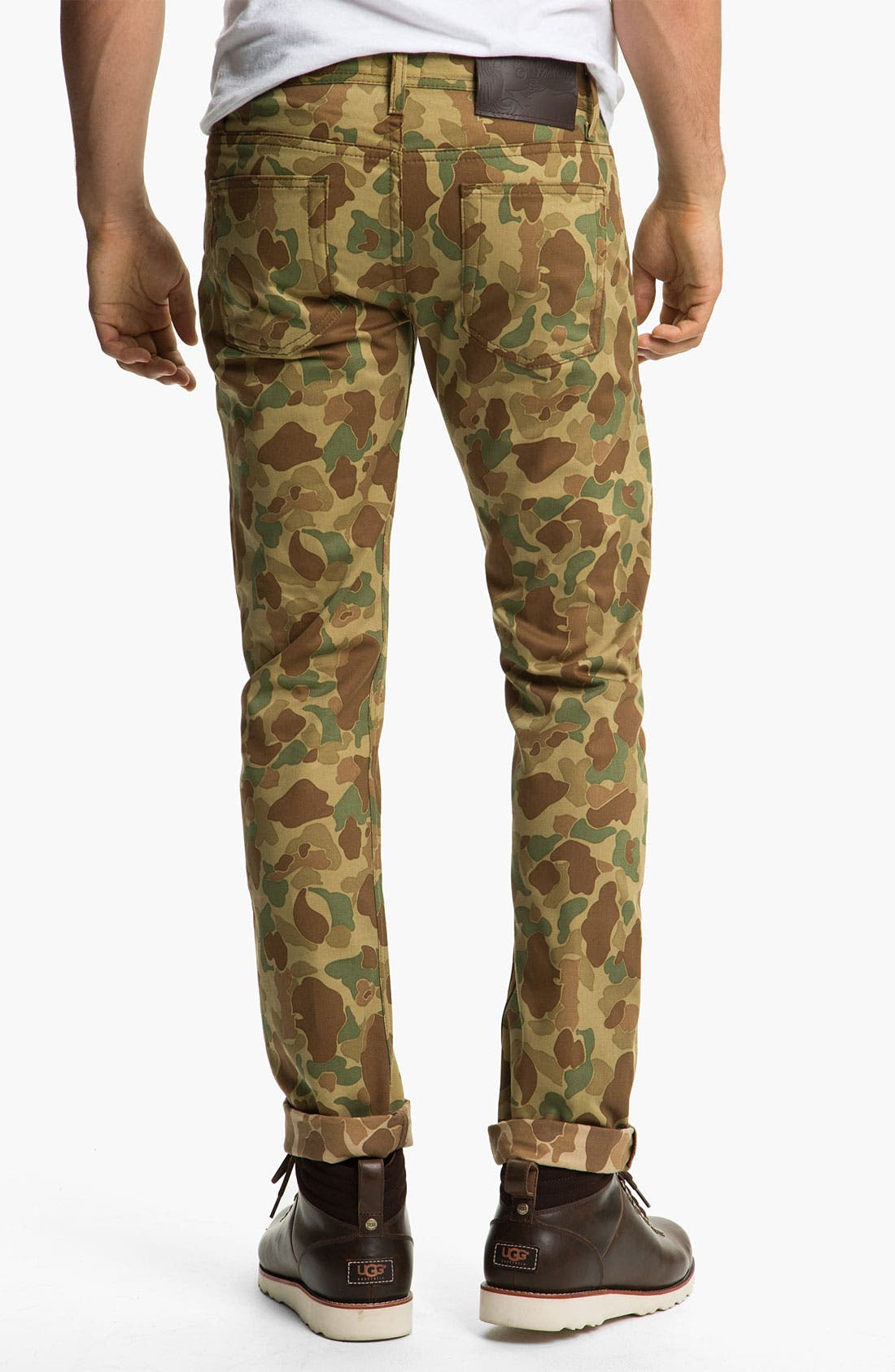 Alternate Image 1 Selected - Naked & Famous Denim 'Weird Guy' Dual Camo Print Slim Tapered Leg Pants