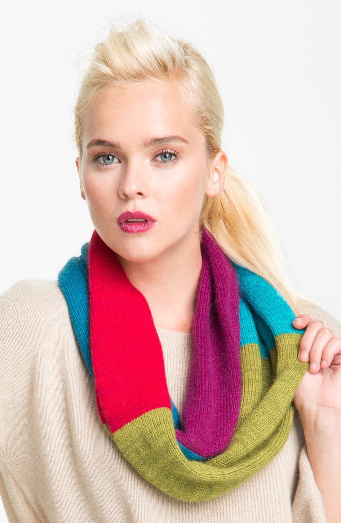 Alternate Image 1 Selected - Laundry by Shelli Segal 'Bauhaus Blocks' Infinity Scarf