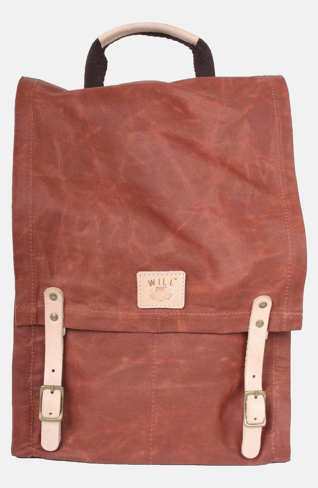 Alternate Image 1 Selected - Will Leather Goods Waxed Canvas Backpack