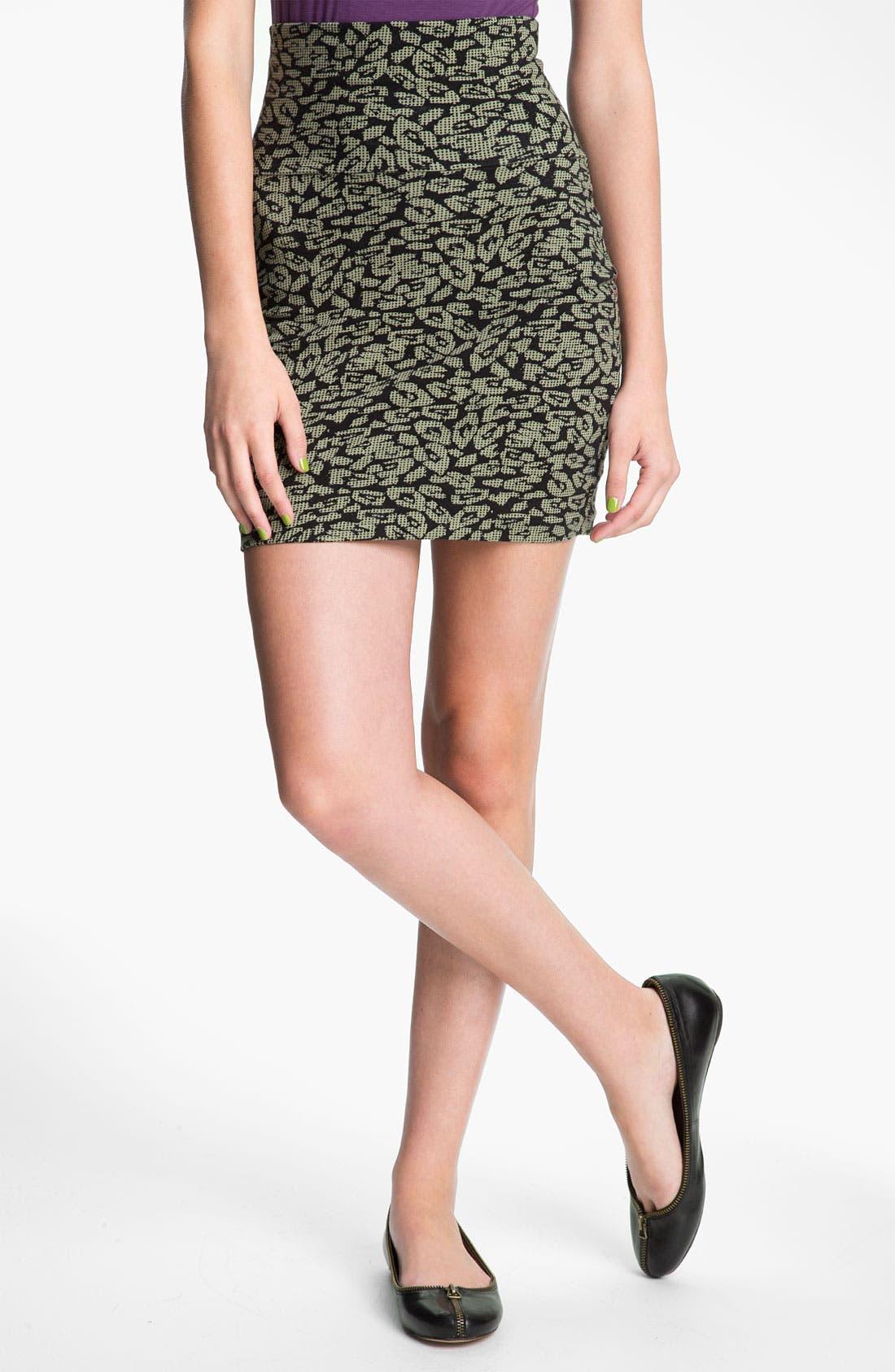 Main Image - Lily White Bandage Miniskirt (Juniors)