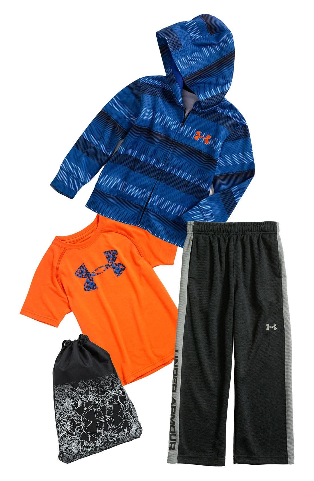 Main Image - Under Armour T-Shirt, Hoodie & Pants (Little Boys)