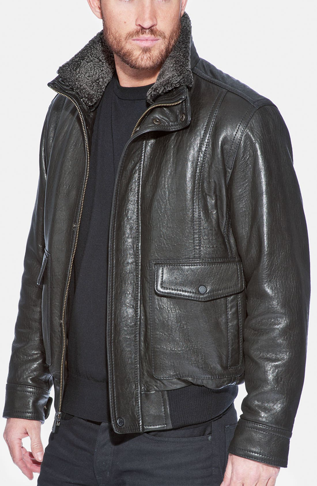 Alternate Image 3  - Andrew Marc 'Radar' Leather Jacket