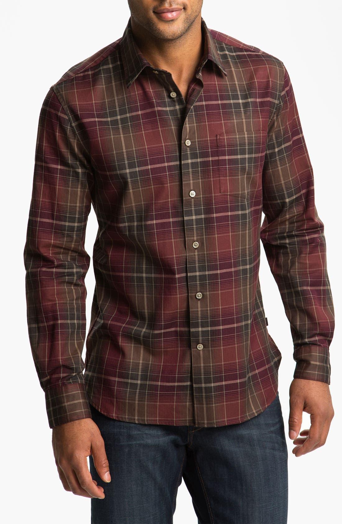 Alternate Image 1 Selected - John Varvatos Star USA Trim Fit Plaid Sport Shirt
