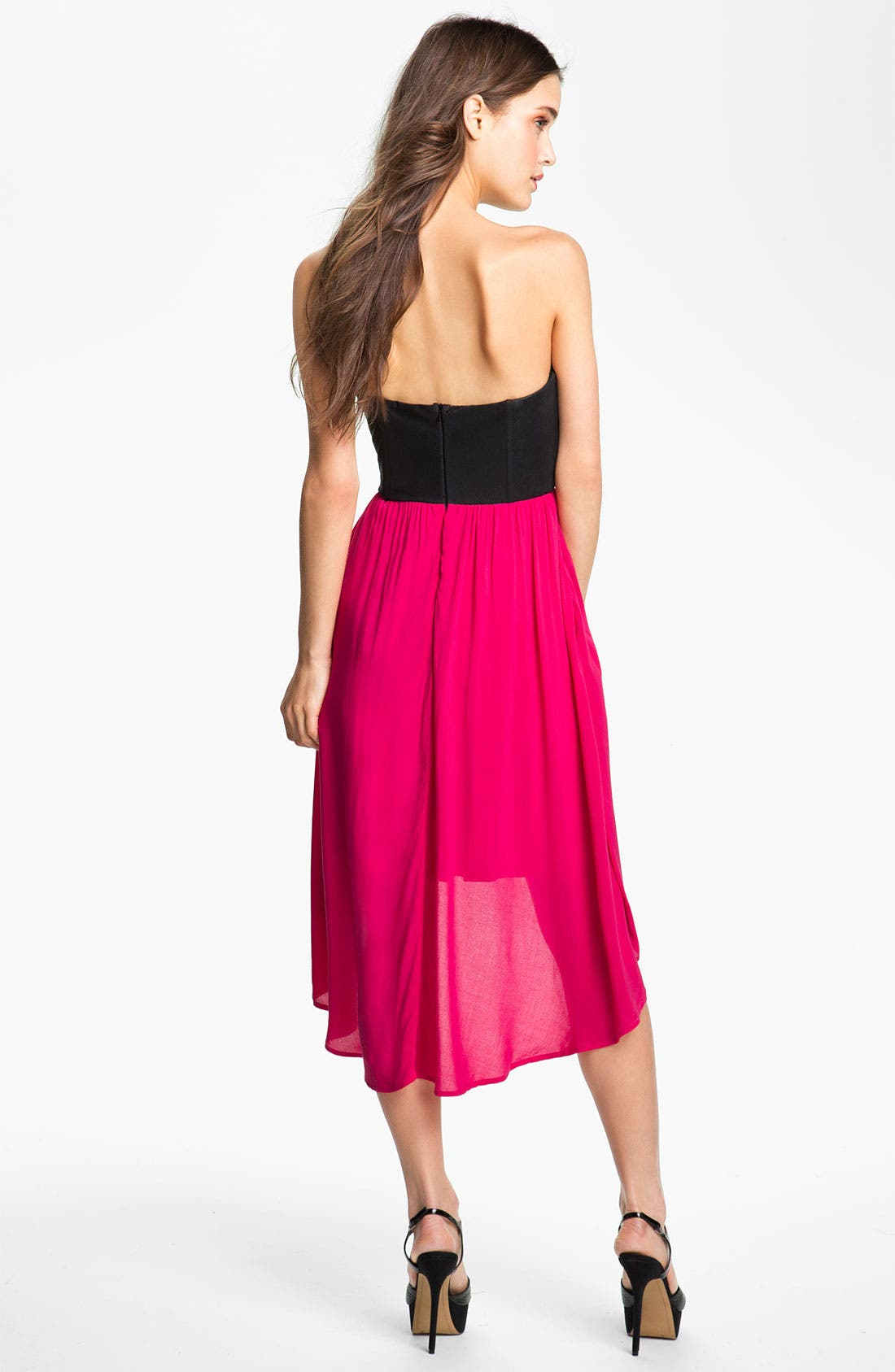 Alternate Image 2  - Ella Moss 'Roslyn' Colorblock Strapless Dress